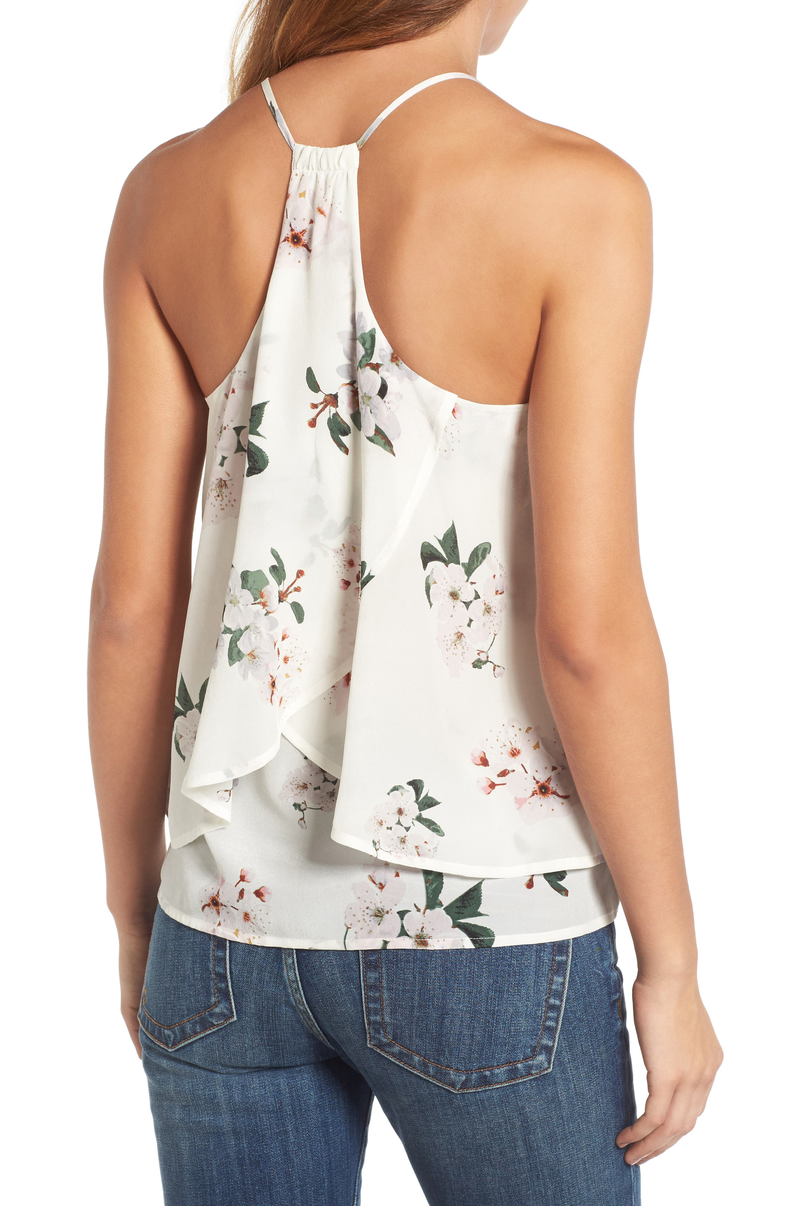 Alternate Image 2  - Lucky Brand Floral Silk Tank