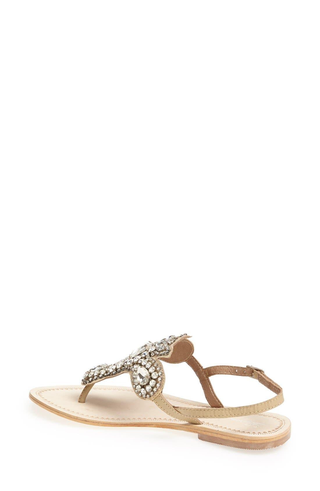 Alternate Image 2  - Lauren Lorraine 'Ibiza' Crystal Thong Sandal (Women)