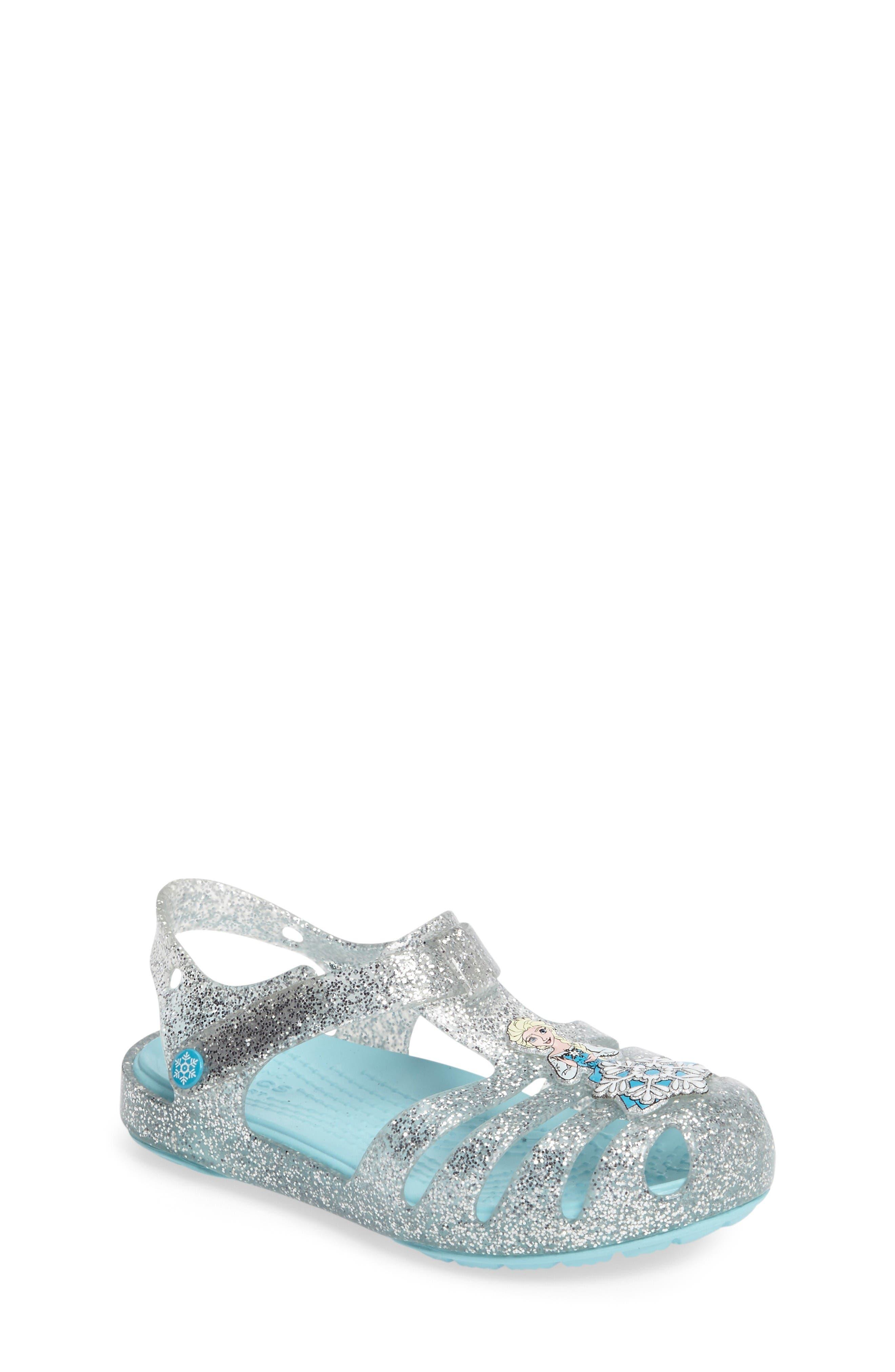 CROCS™ Isabella Frozen™ Northern Lights Sandal (Baby, Walker, Toddler & Little Kid)