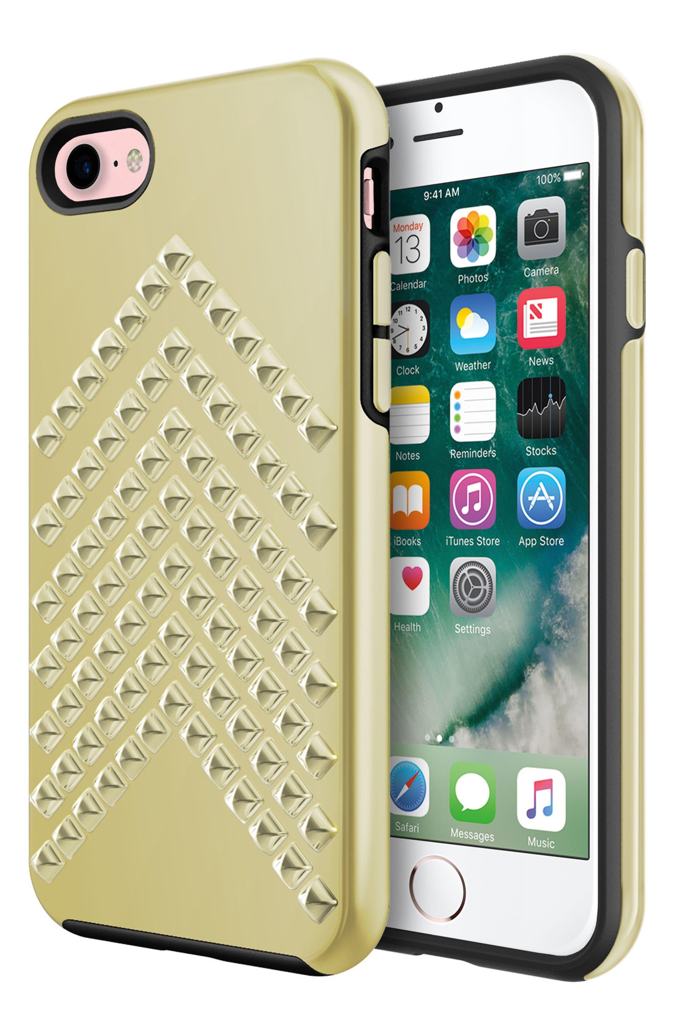 Rebecca Minkoff Chevron Stud iPhone 7 Case