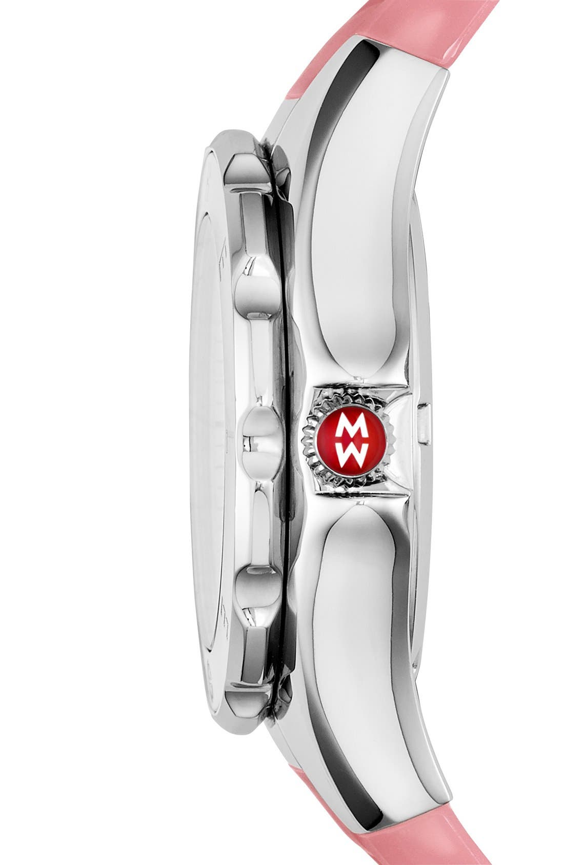 Alternate Image 2  - MICHELE 'Tahitian Jelly Bean' Silicone Strap Watch, 40mm