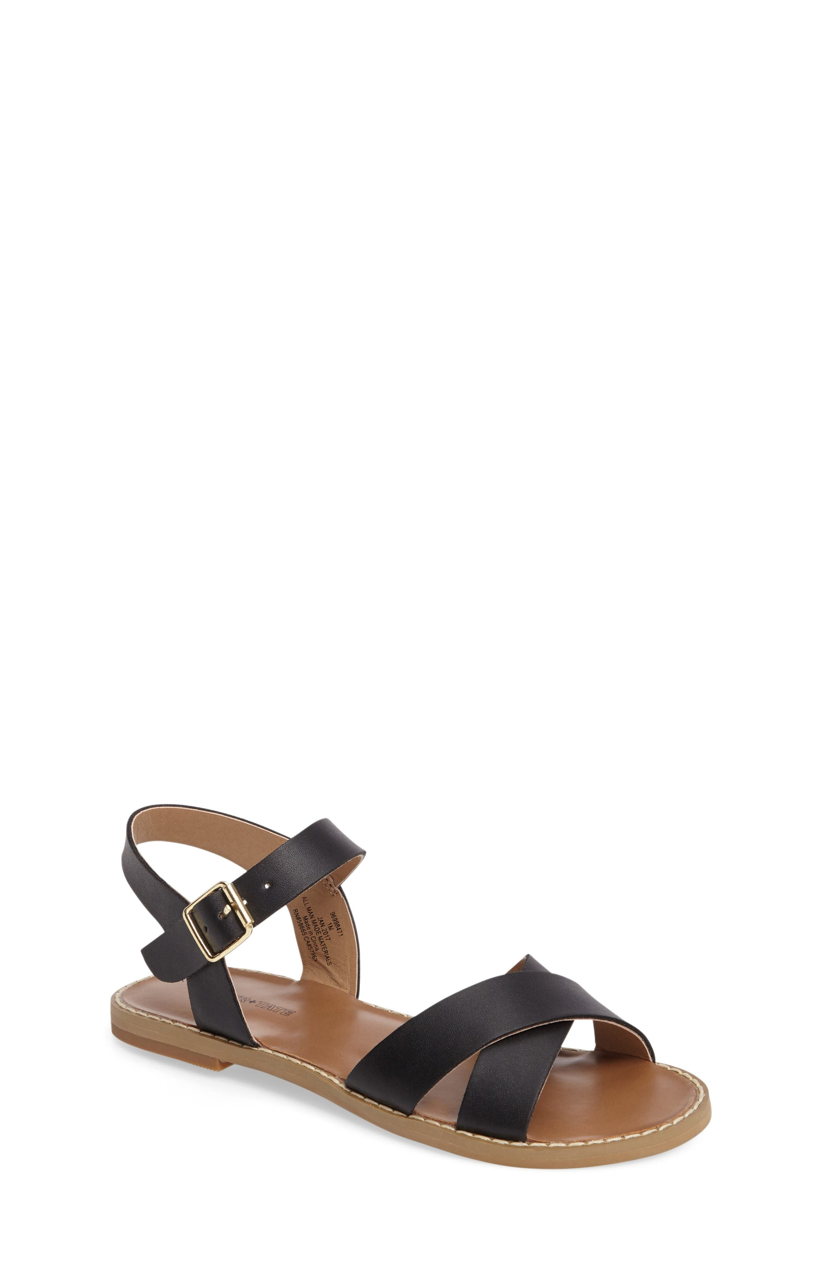 Tucker + Tate Arya Cross Strap Sandal (Toddler, Little Kid & Big Kid)