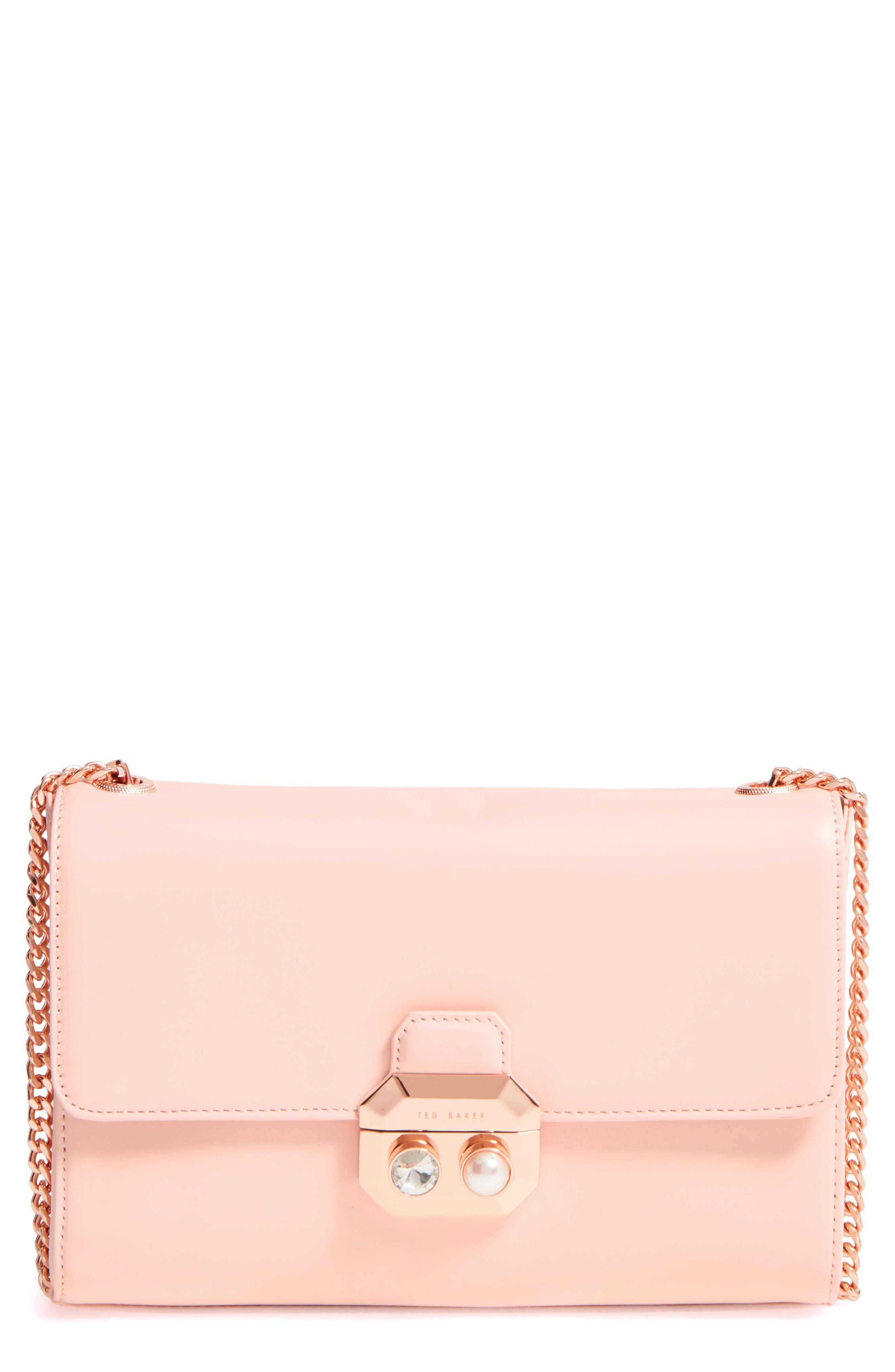 Main Image - Ted Baker London Leather Crossbody Bag