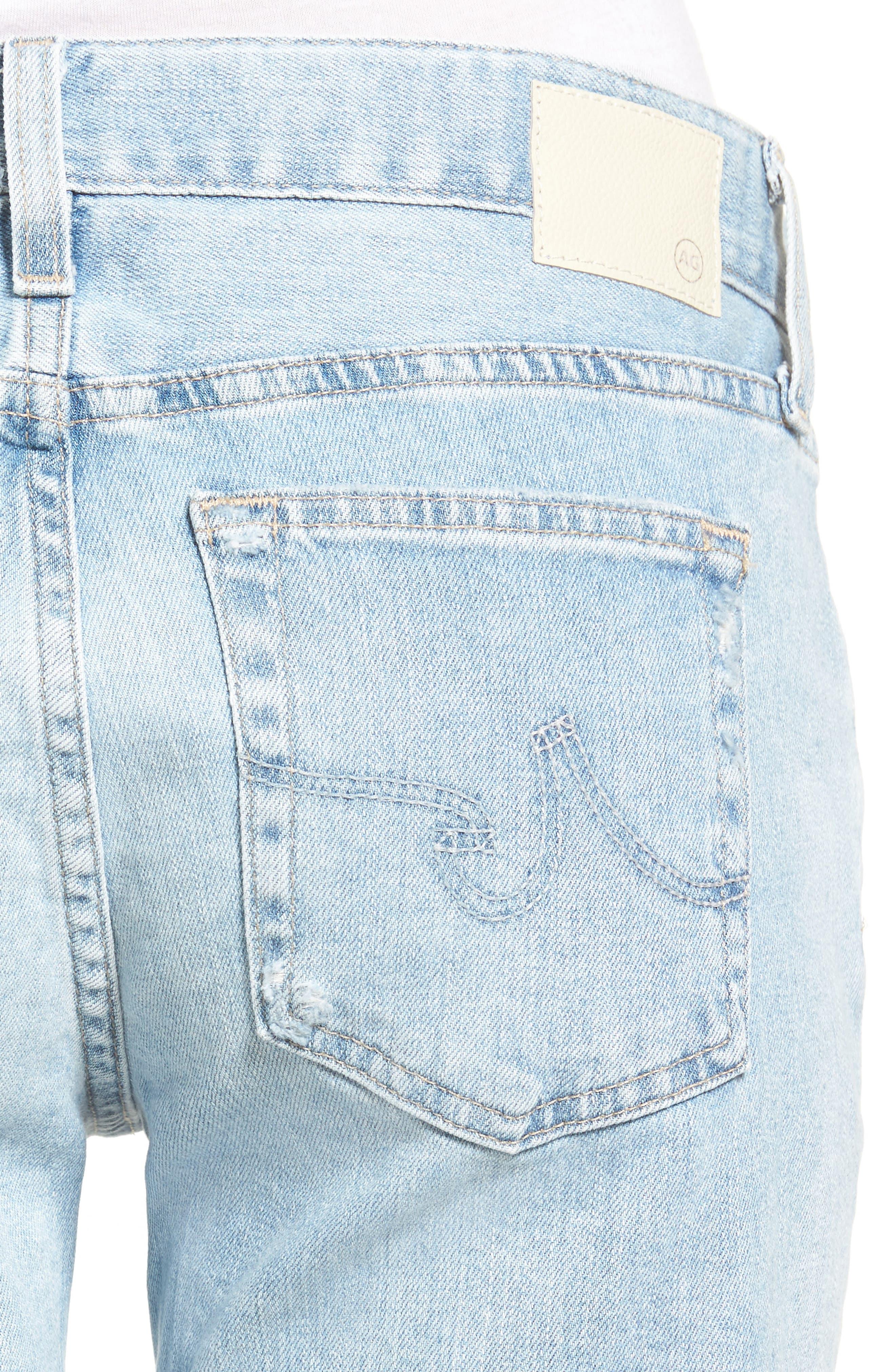 Alternate Image 4  - AG The Nikki Denim Bermuda Shorts (24 Year Relief)