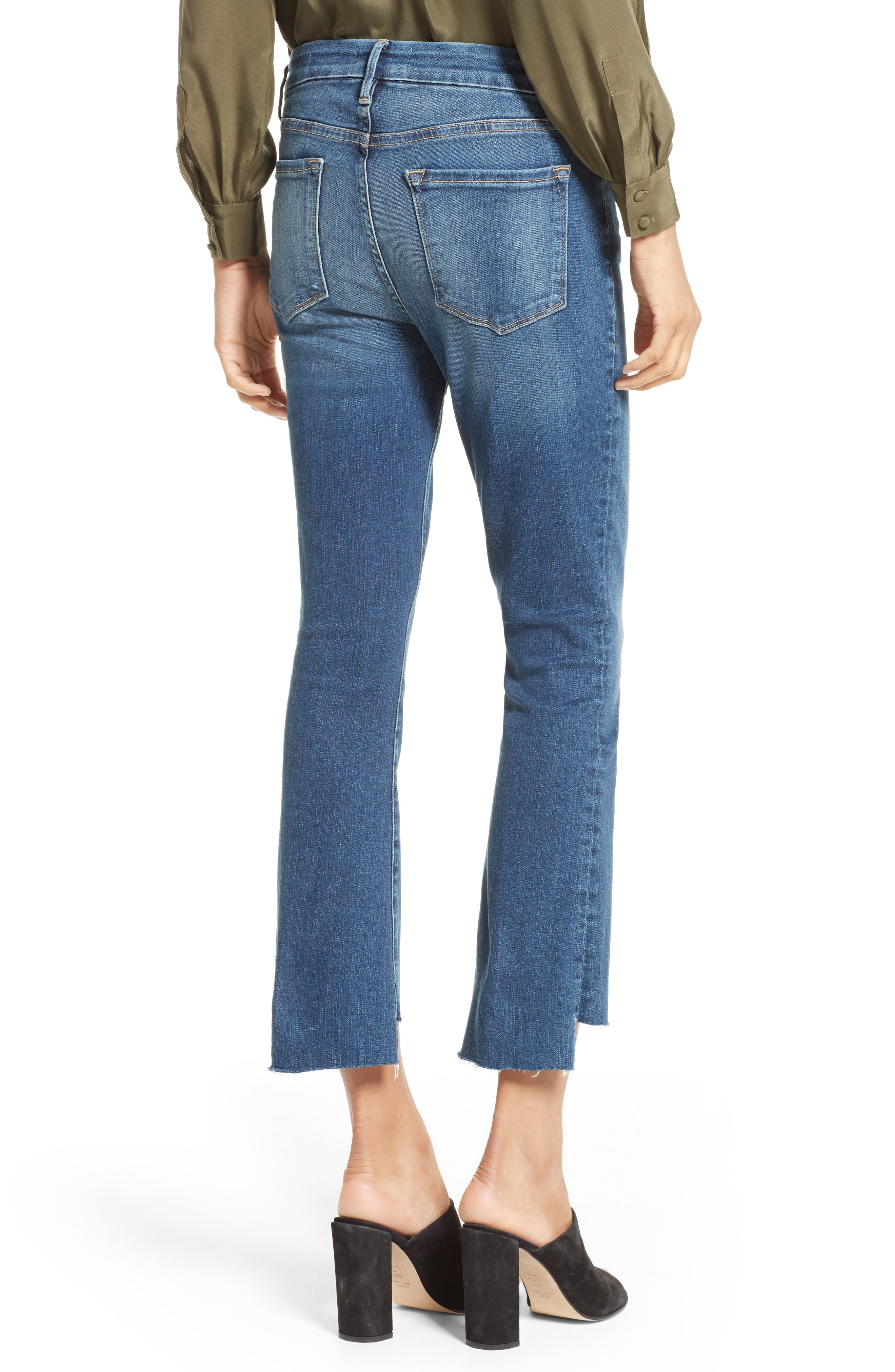 Alternate Image 2  - FRAME Le Crop Mini Boot Stagger Hem Jeans (Clifton) (Nordstrom Exclusive)