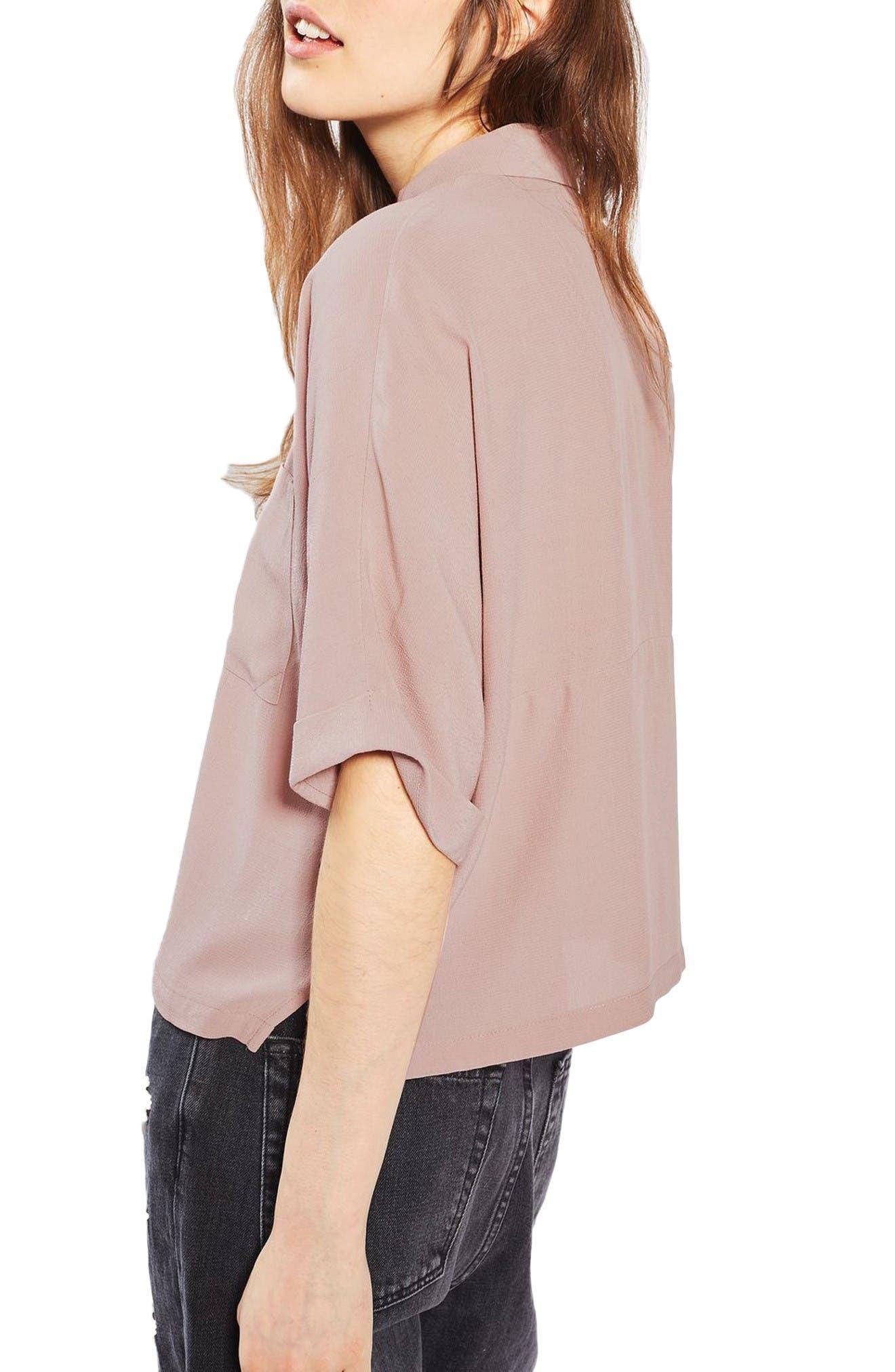 Alternate Image 3  - Topshop Kady Roll Sleeve Shirt
