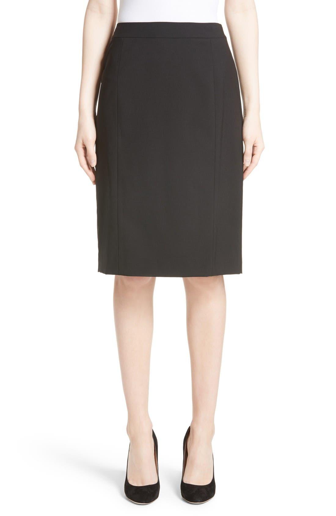 Main Image - Lafayette 148 New York Stretch Wool Pencil Skirt
