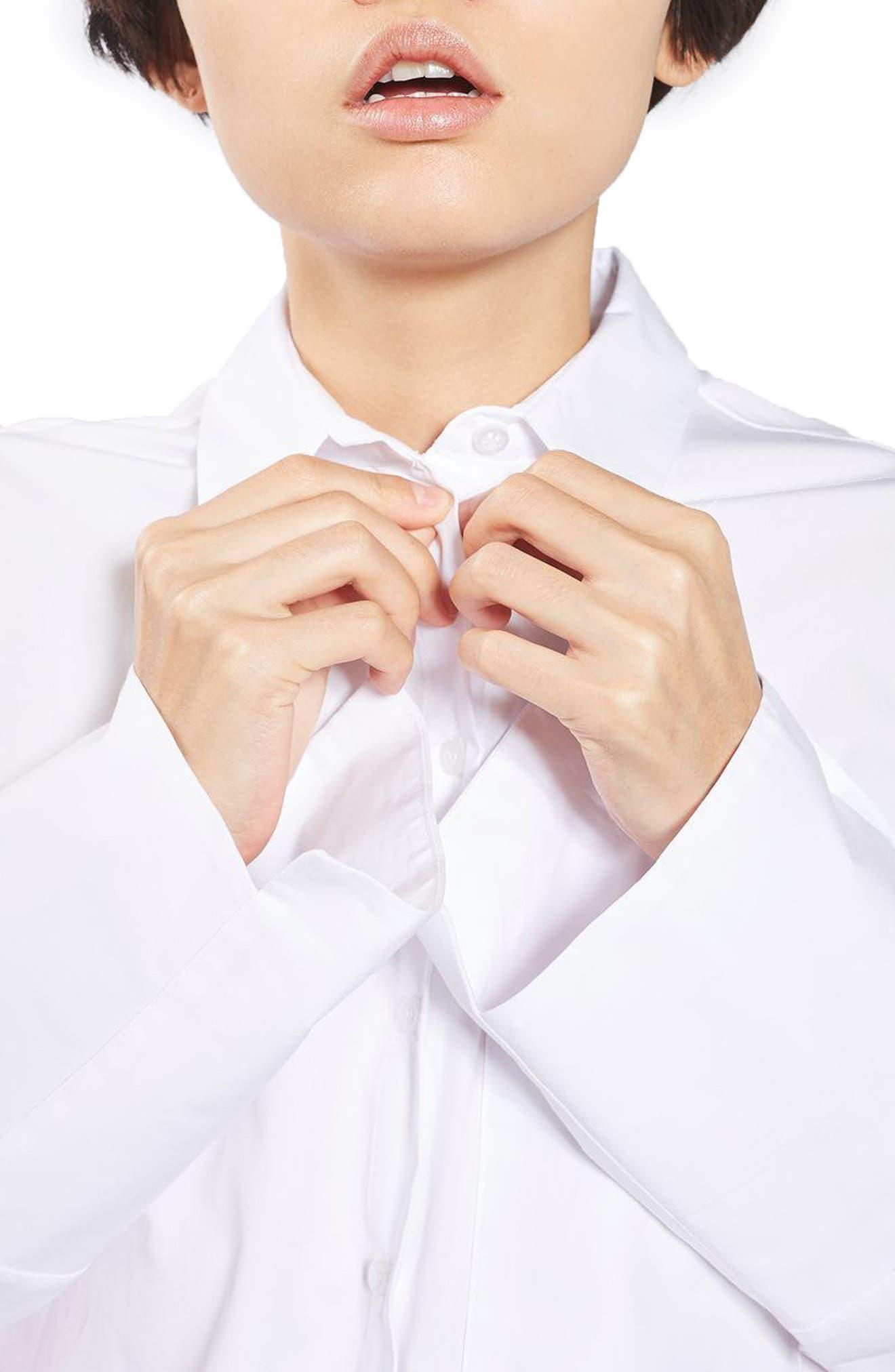 Alternate Image 5  - Topshop Deep Cuff Oversize Shirt