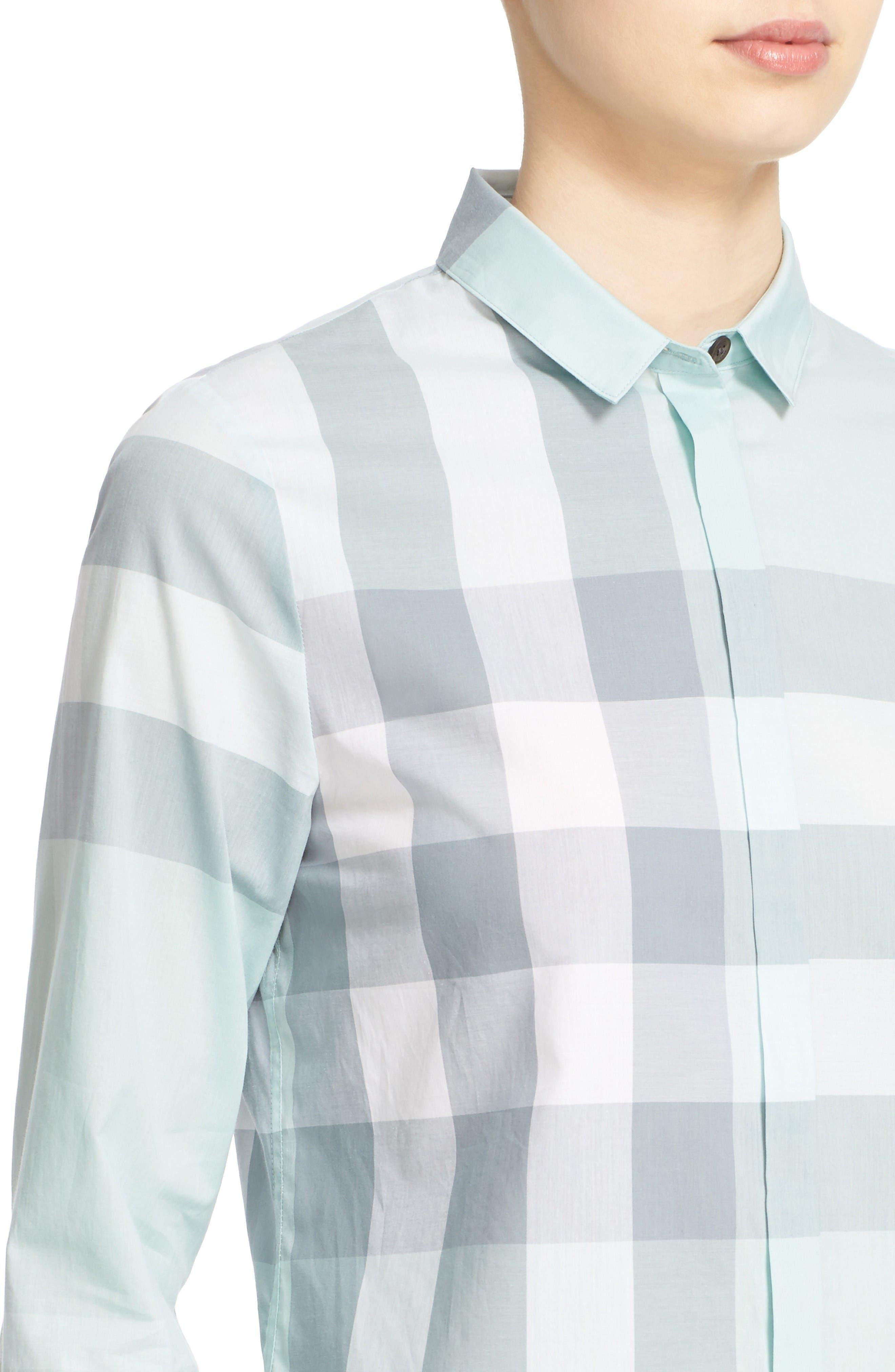 Alternate Image 6  - Burberry Check Print Cotton Shirt