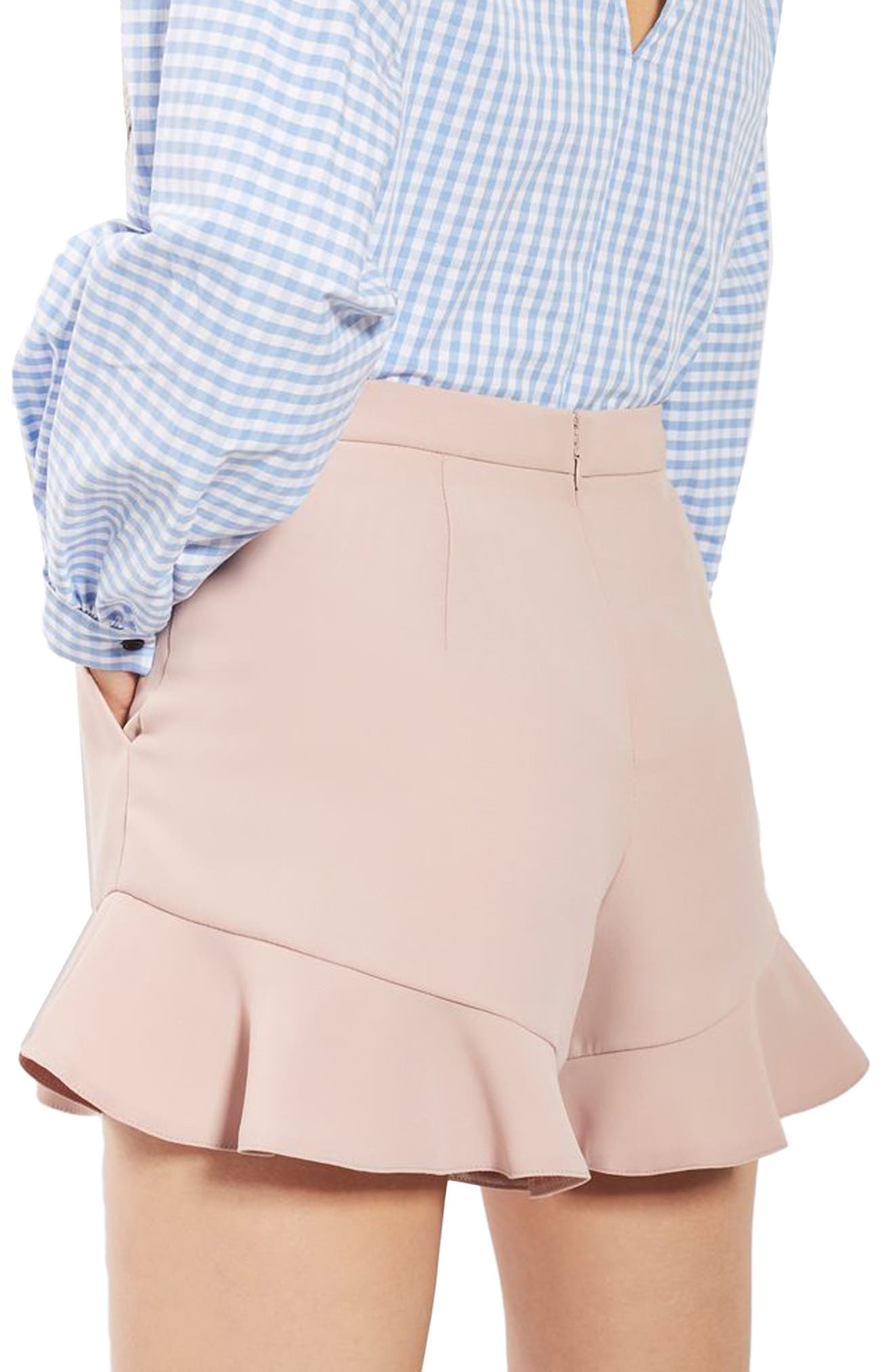 Alternate Image 3  - Topshop Frill Hem Shorts