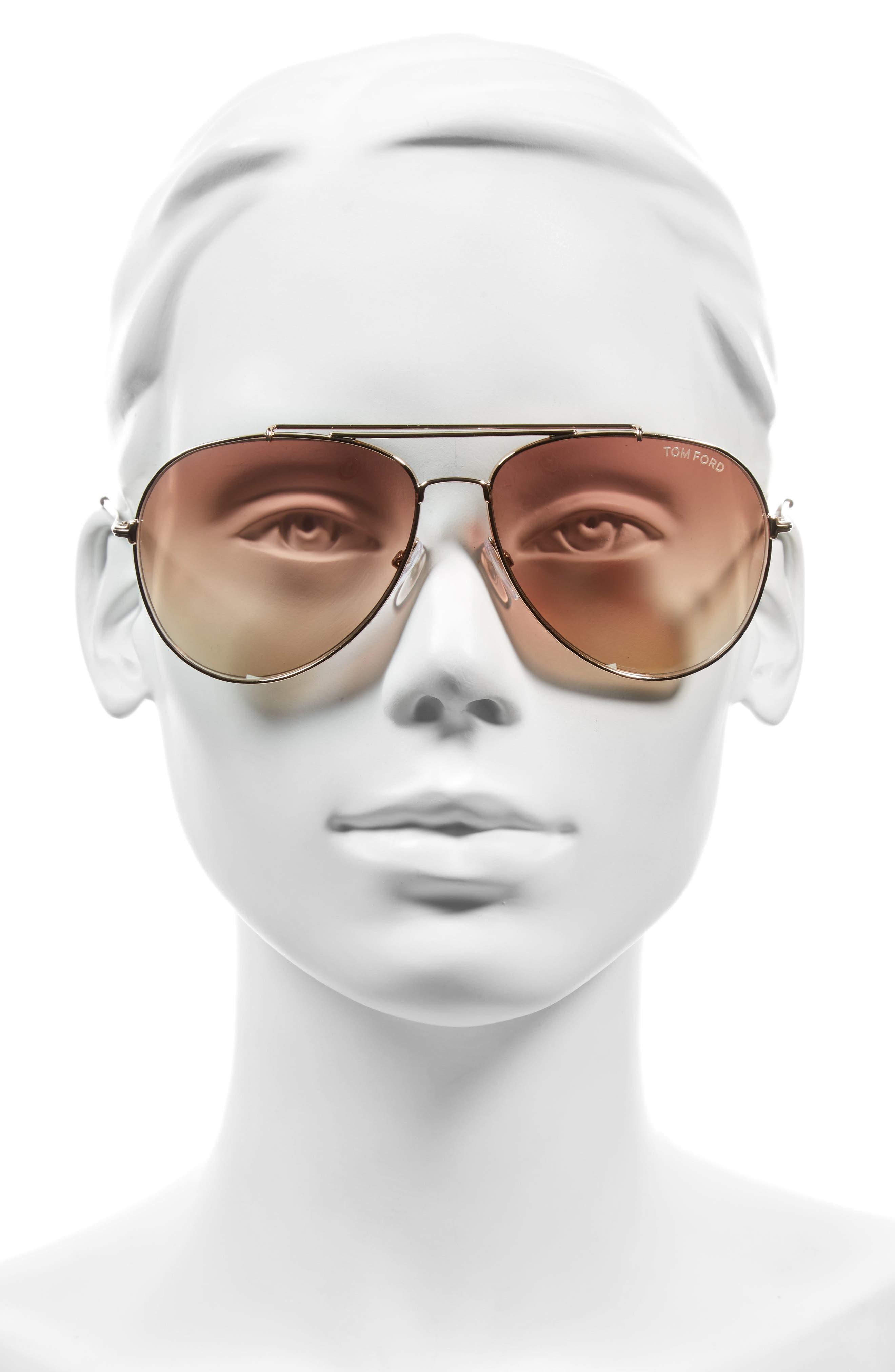 Alternate Image 2  - Tom Ford Indiana 60mm Aviator Sunglasses