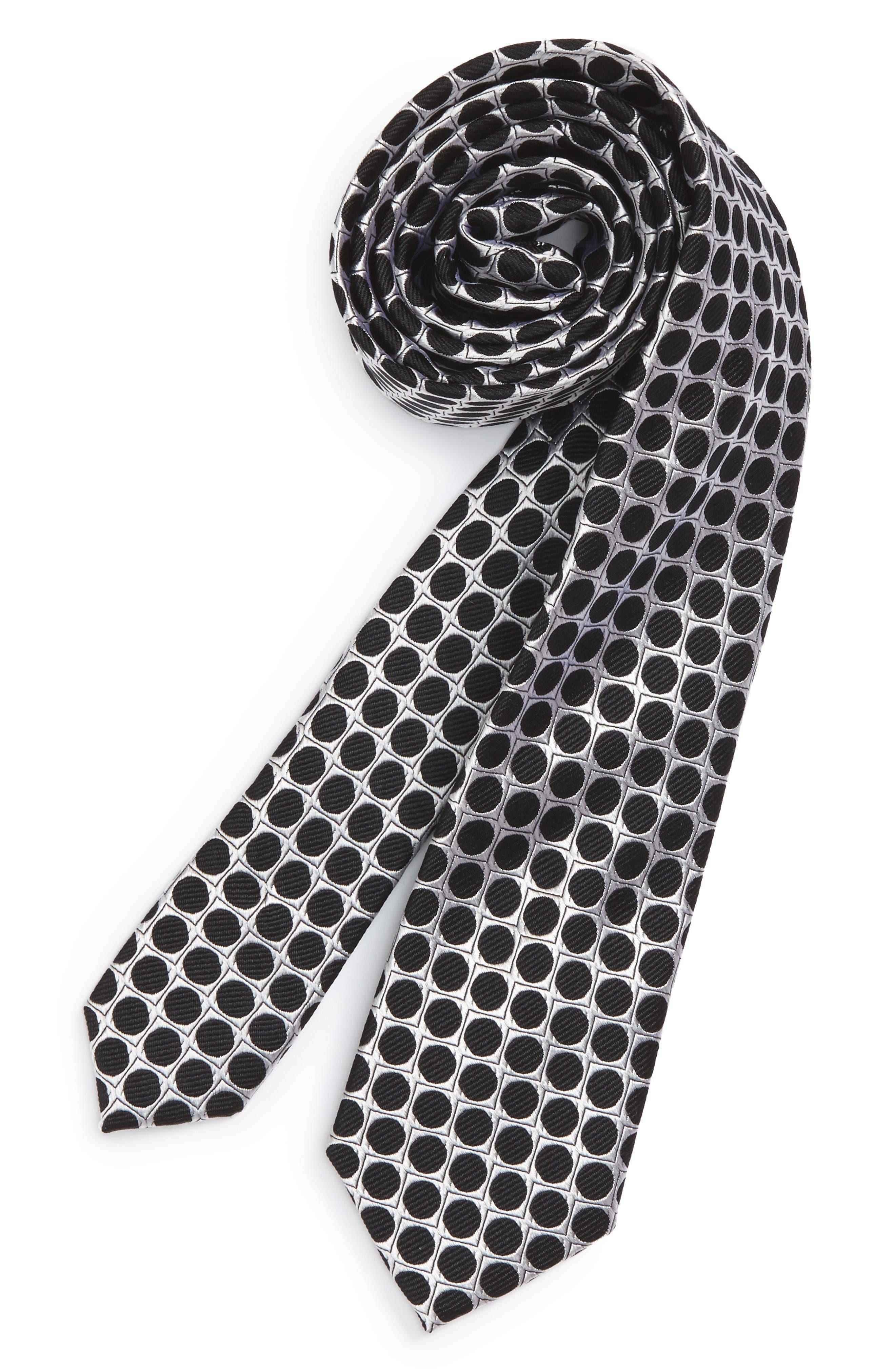 Nordstrom Dot Silk Tie (Big Boys)