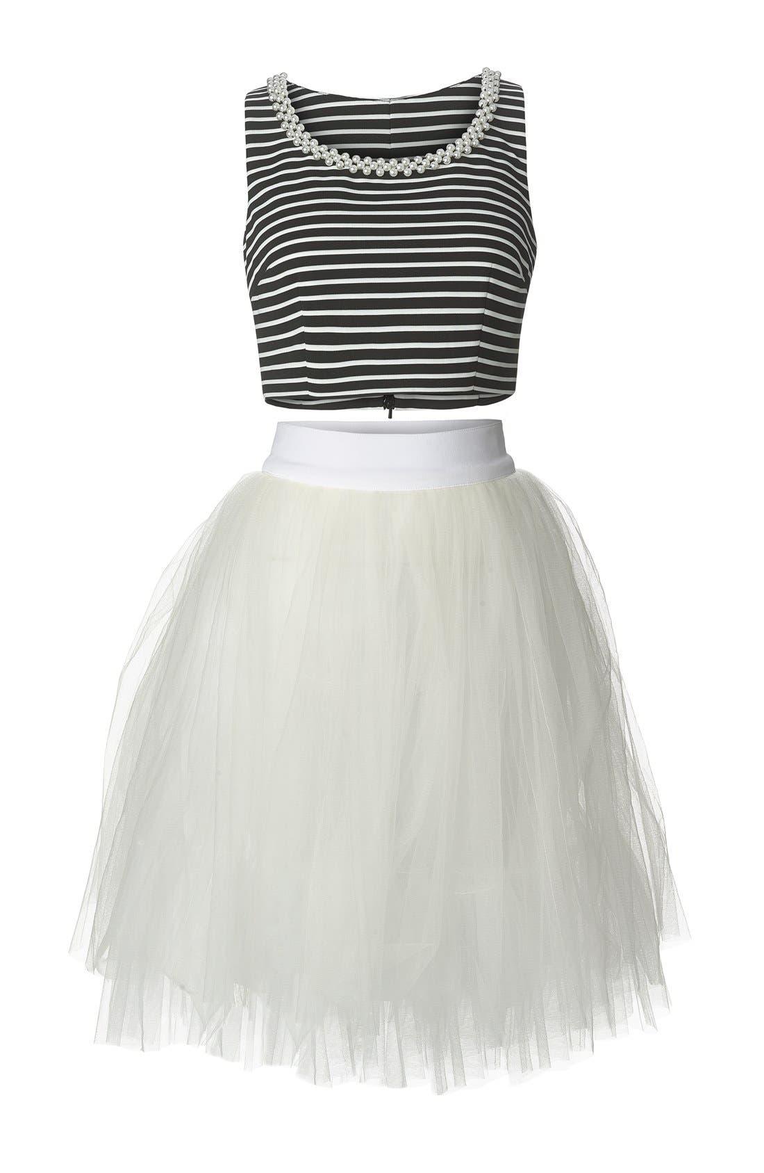 Alternate Image 3  - a. drea Embellished Two-Piece Ballerina Dress (Juniors)