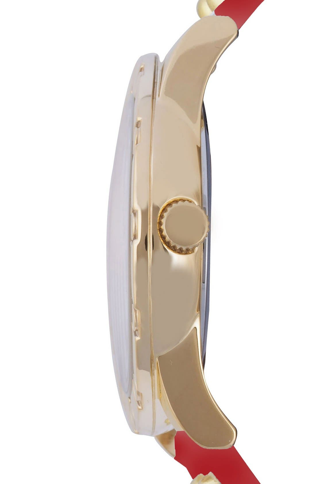 Alternate Image 3  - VERSUS by Versace 'Miami' Rivet & Safety Pin Leather Strap Watch, 40mm