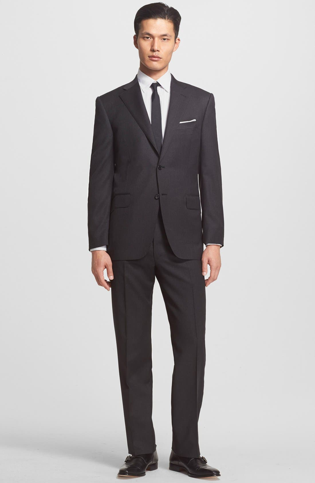 Alternate Image 1 Selected - Canali Trim Fit Wool Suit