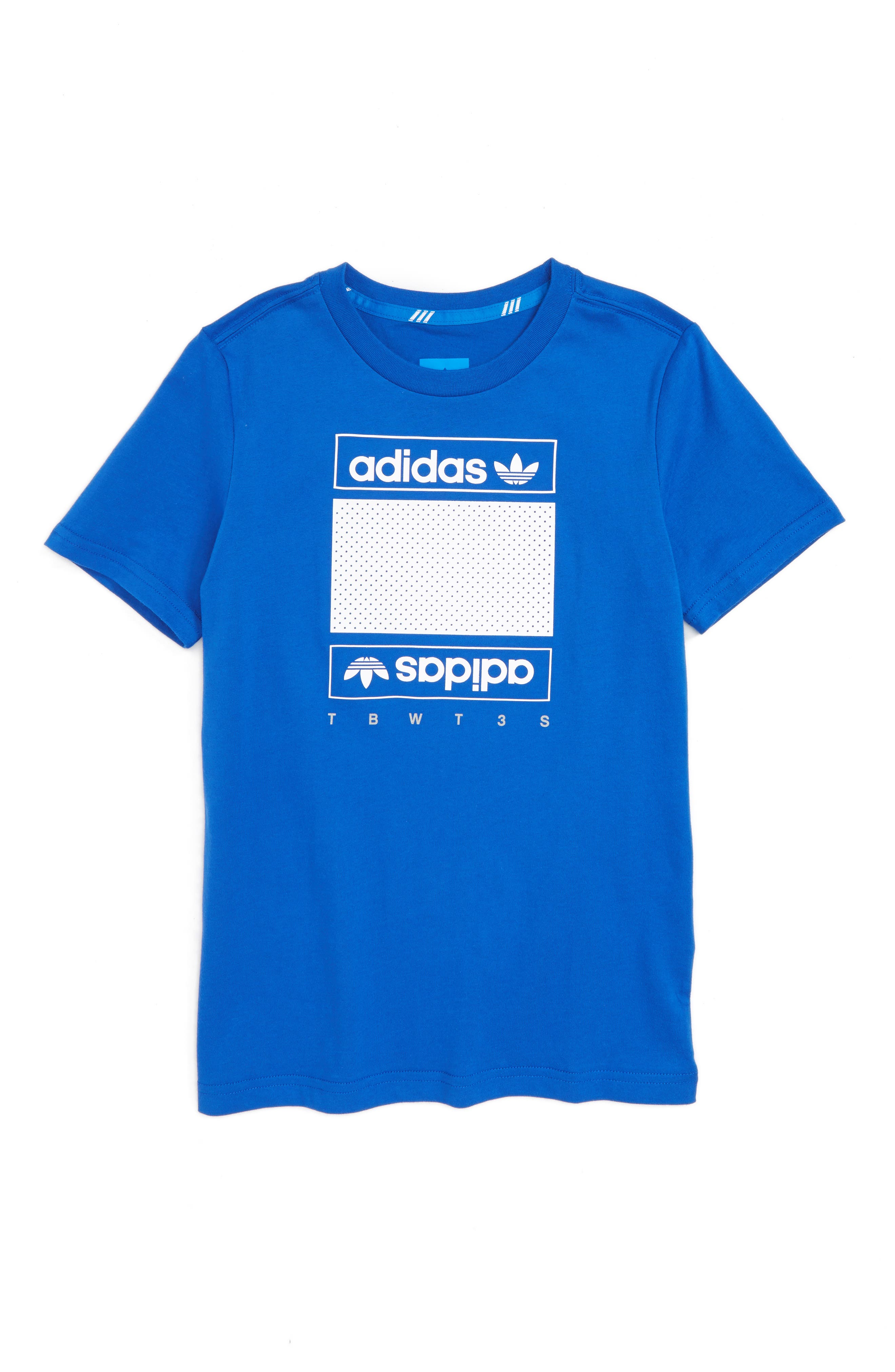 adidas Originals Art of Mesh T-Shirt (Big Boys)
