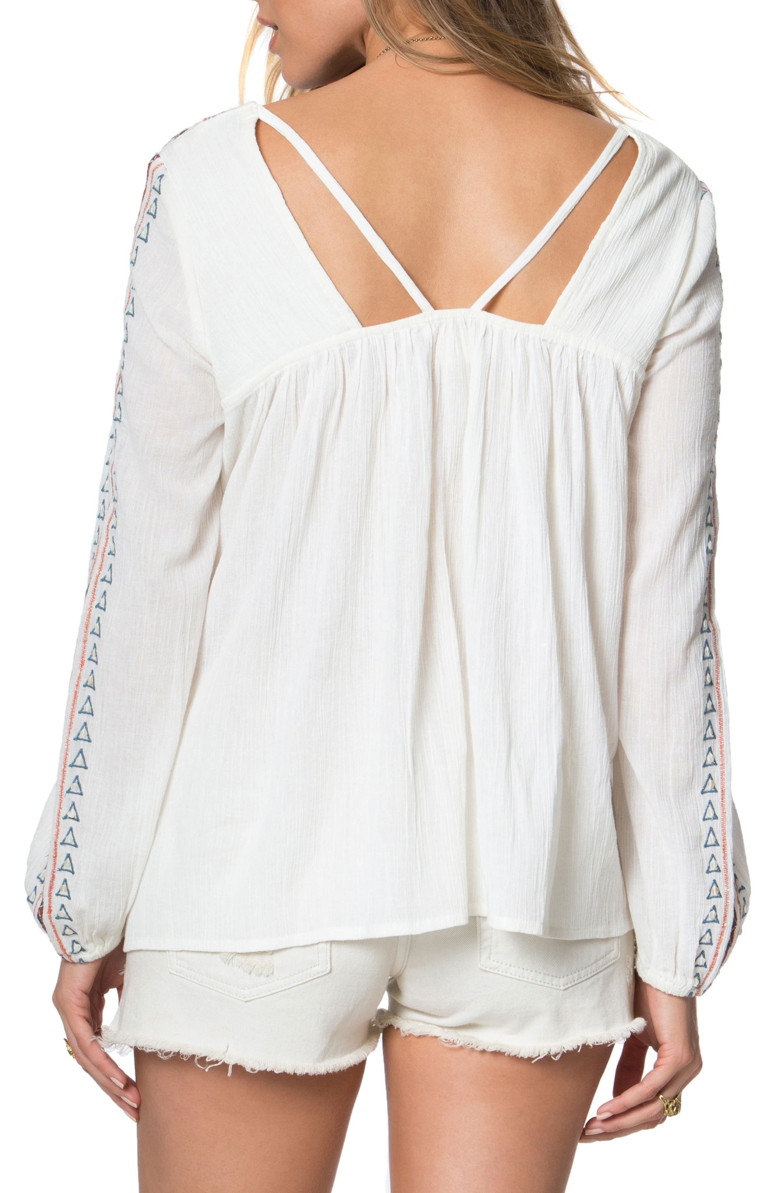 Alternate Image 2  - O'Neill Sidra Embroidered Woven Top
