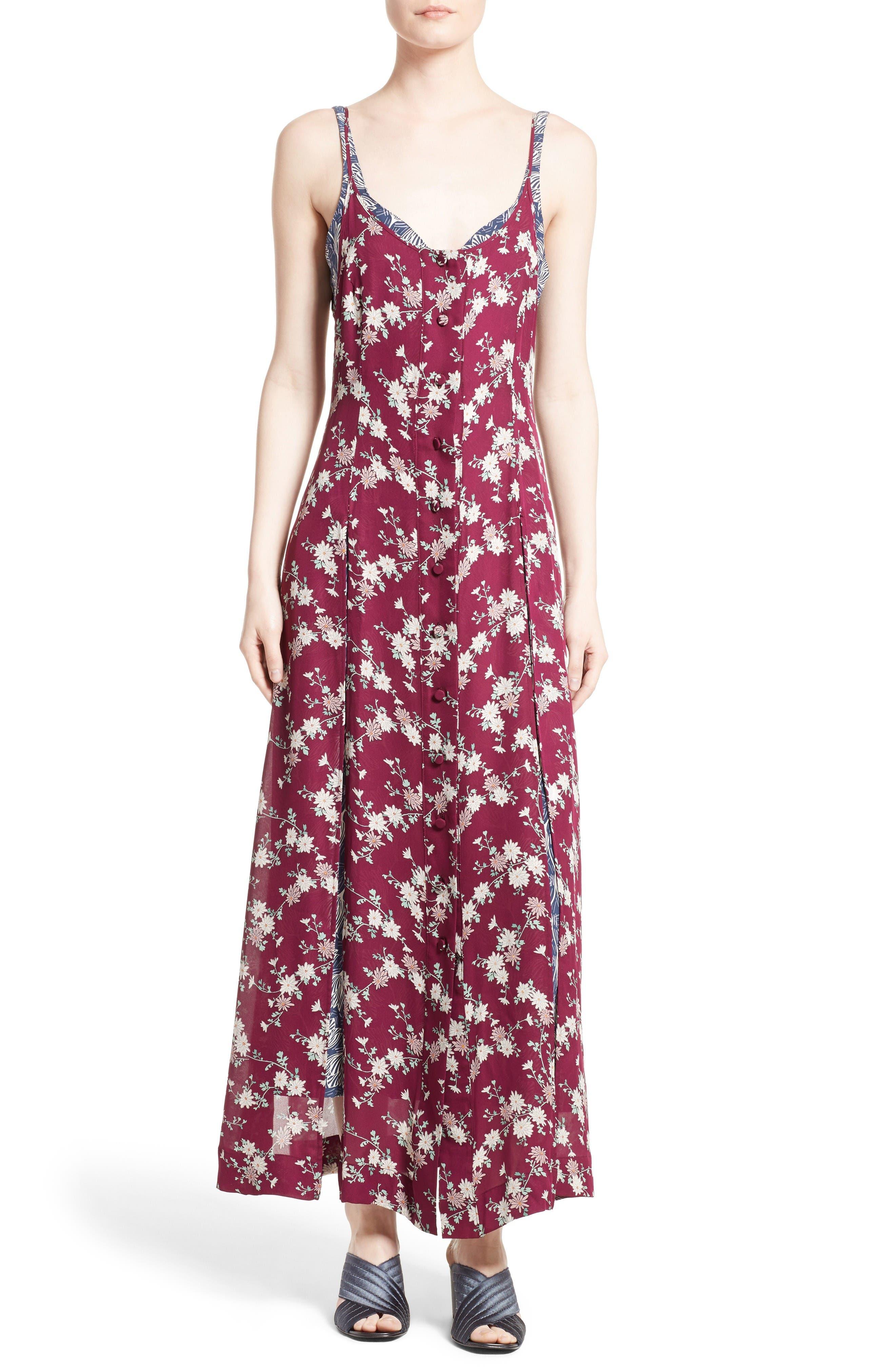 Cinq à Sept Nathalia Floral Print Maxi Dress