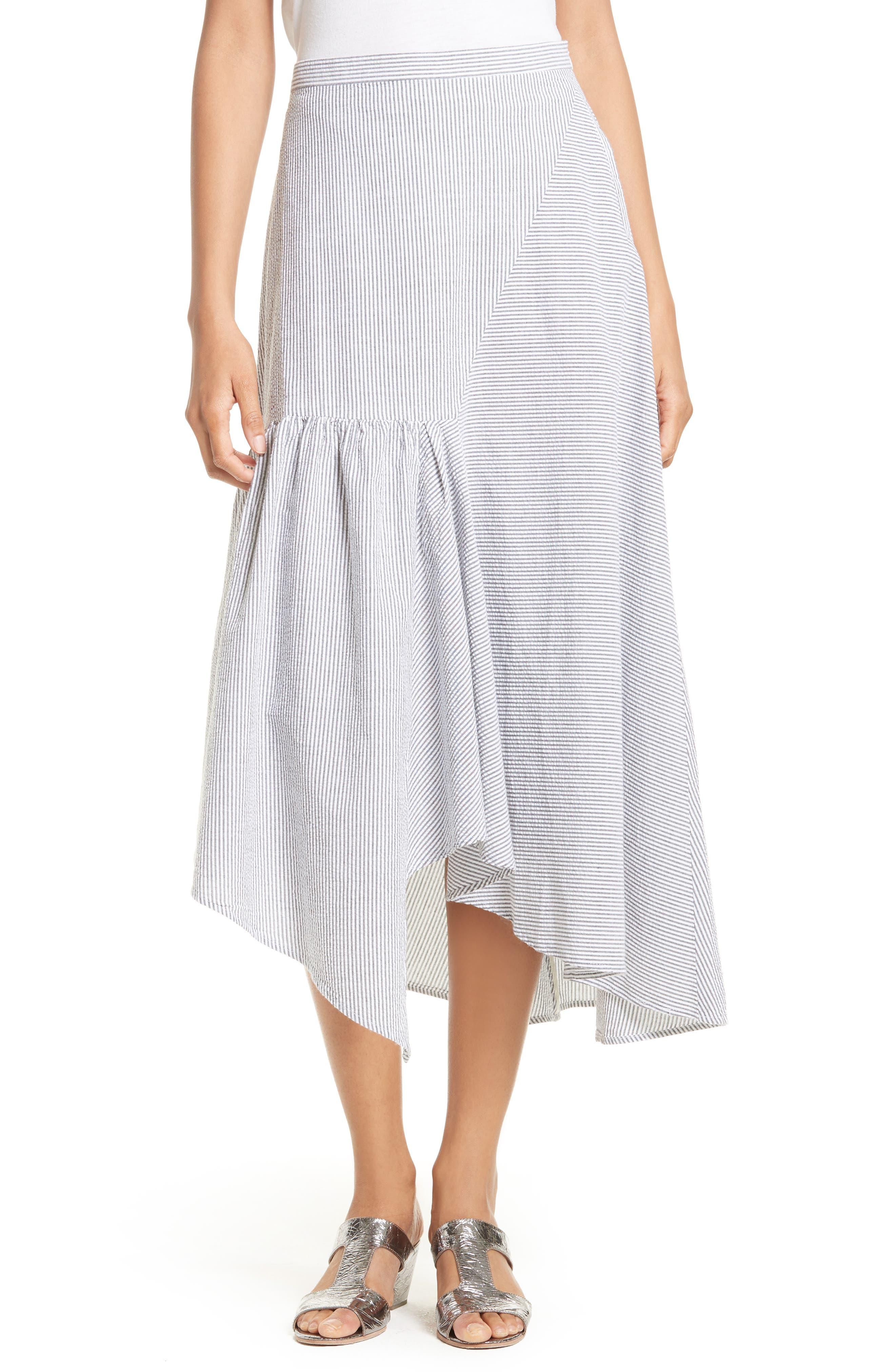 Rachel Comey Steady Seersucker Midi Skirt