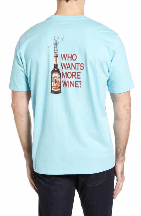 Tommy Bahama Who Wants More Wine Graphic T-Shirt (Big   Tall)
