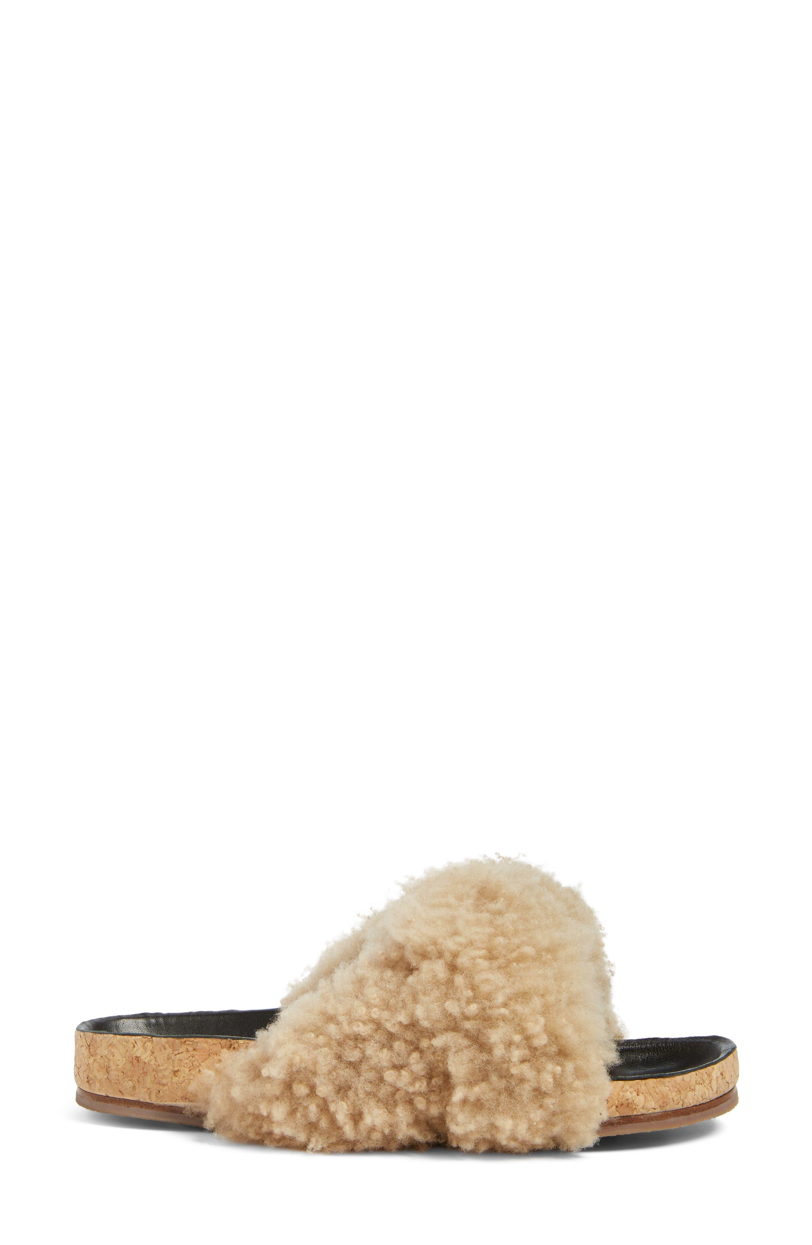 Alternate Image 3  - Chloé Kerenn Genuine Shearling Sandal (Women)