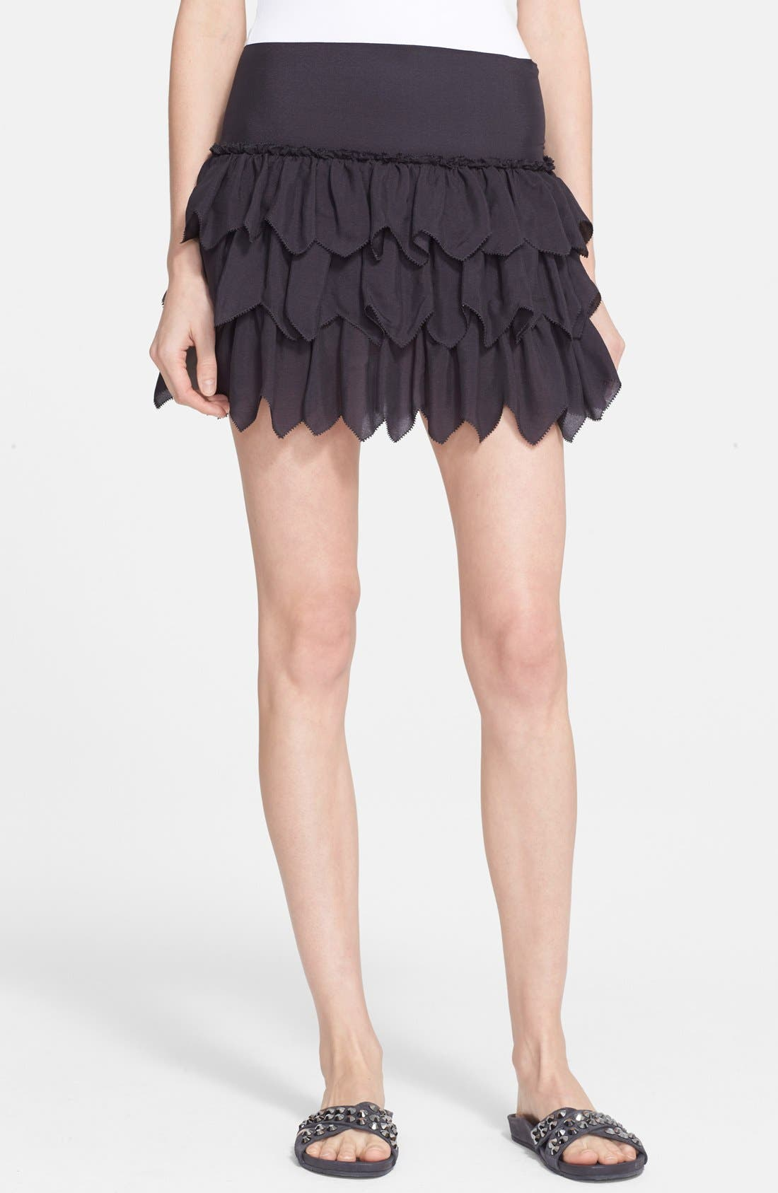 Alternate Image 1 Selected - THE GREAT. 'The Tutu' Tiered Silk Skirt