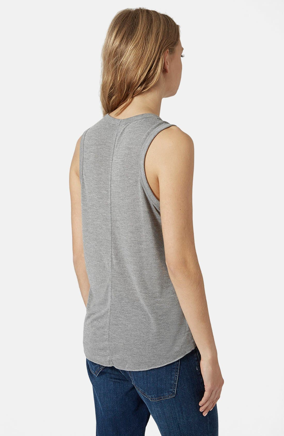 Alternate Image 3  - Topshop U-Neck Tank