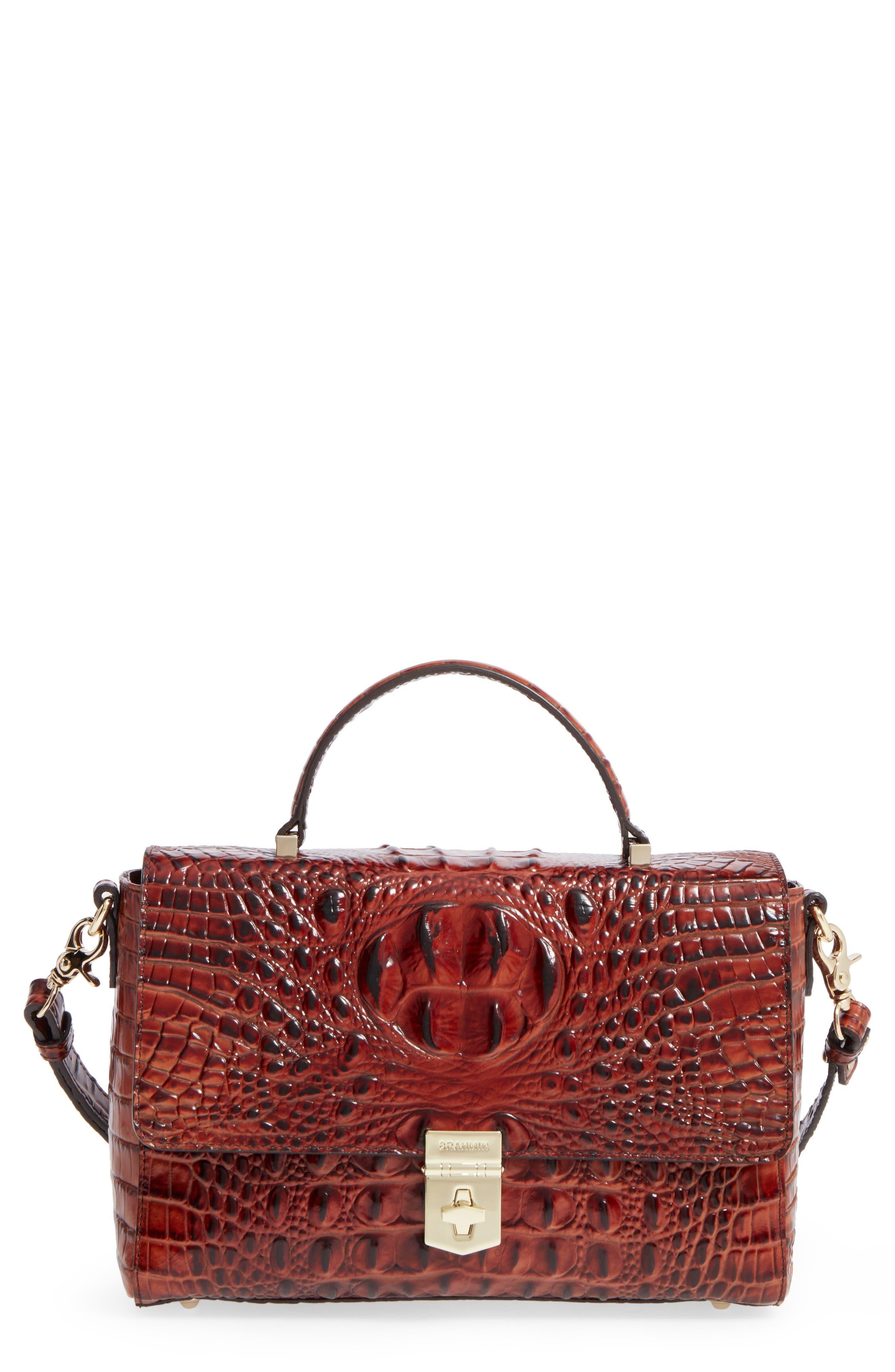 Brahmin Danielle Leather Top Handle Satchel