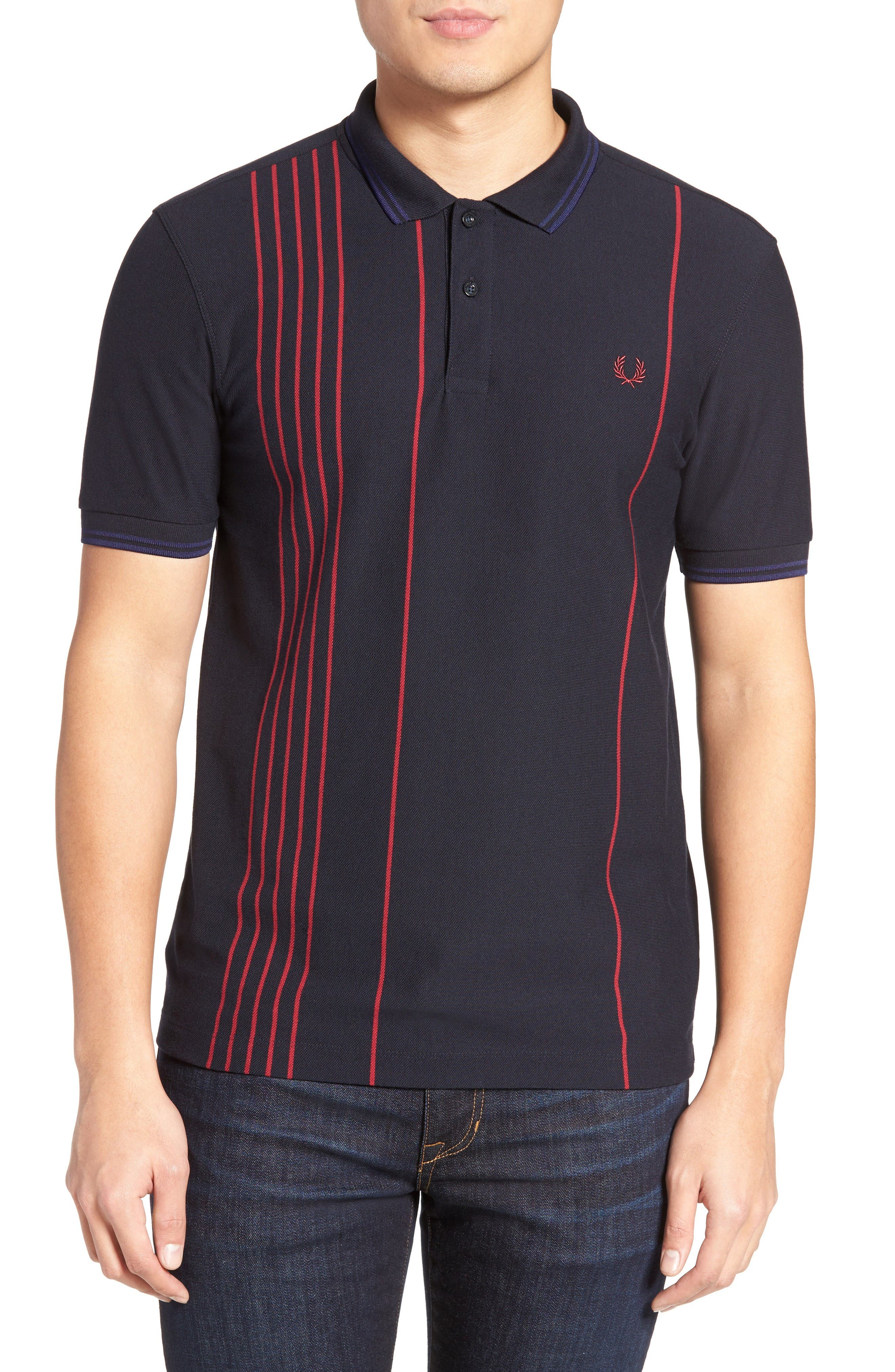 Fred Perry Vertical Stripe Polo