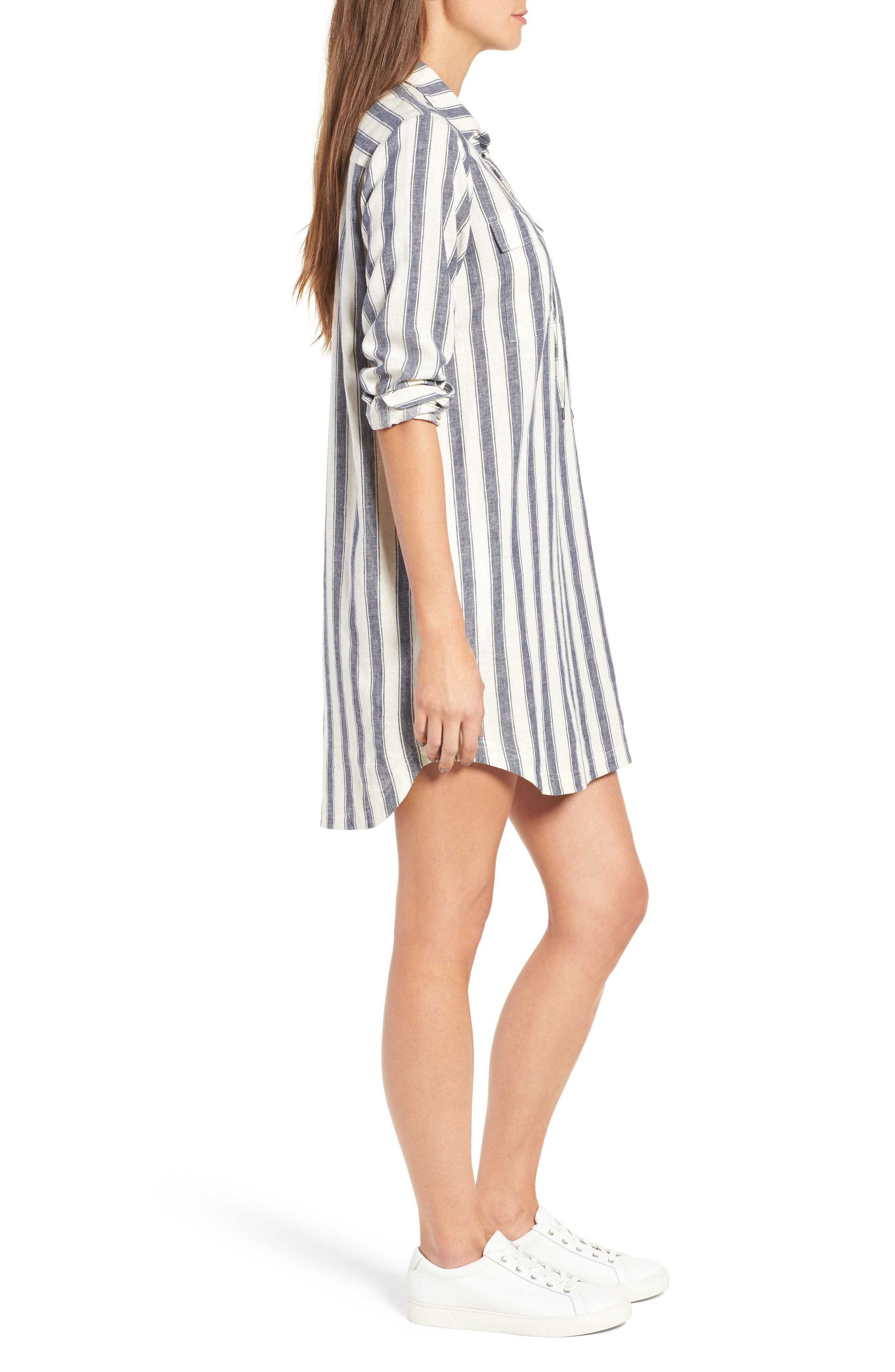 Alternate Image 3  - Madewell Stripe Linen & Cotton Shirtdress