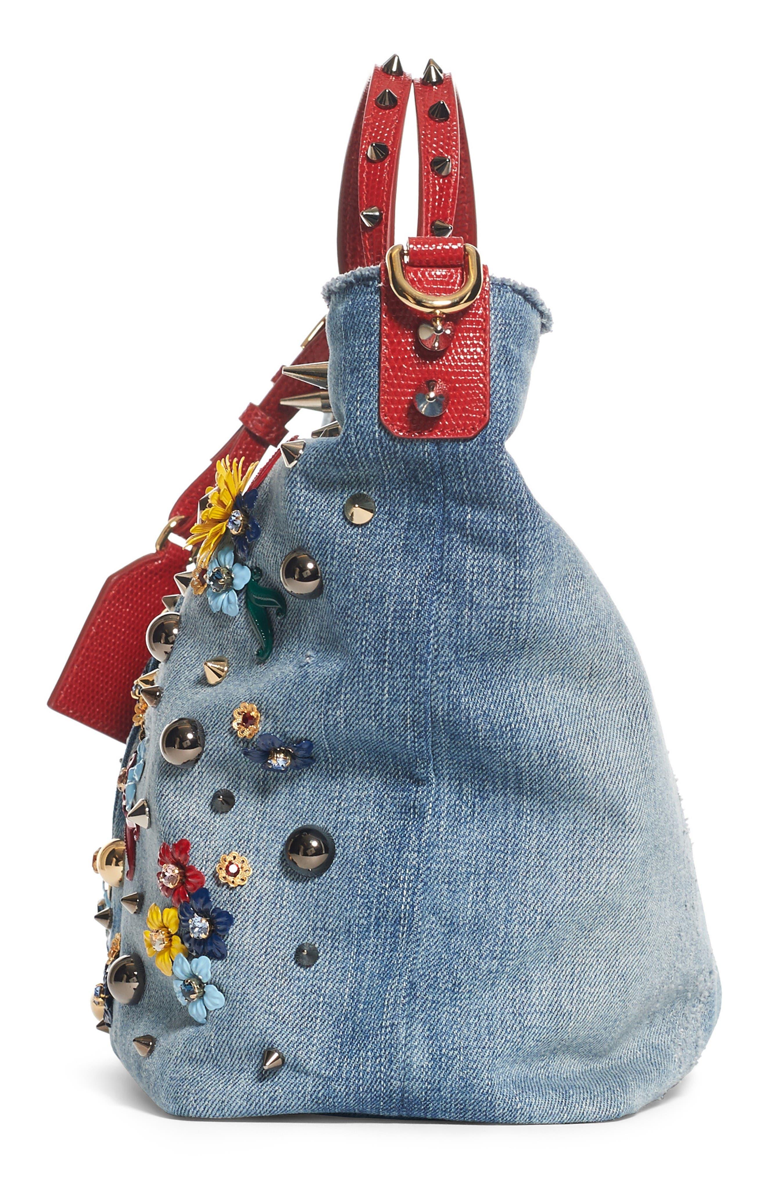 Alternate Image 4  - Dolce&Gabbana Small Embellished Denim Tote