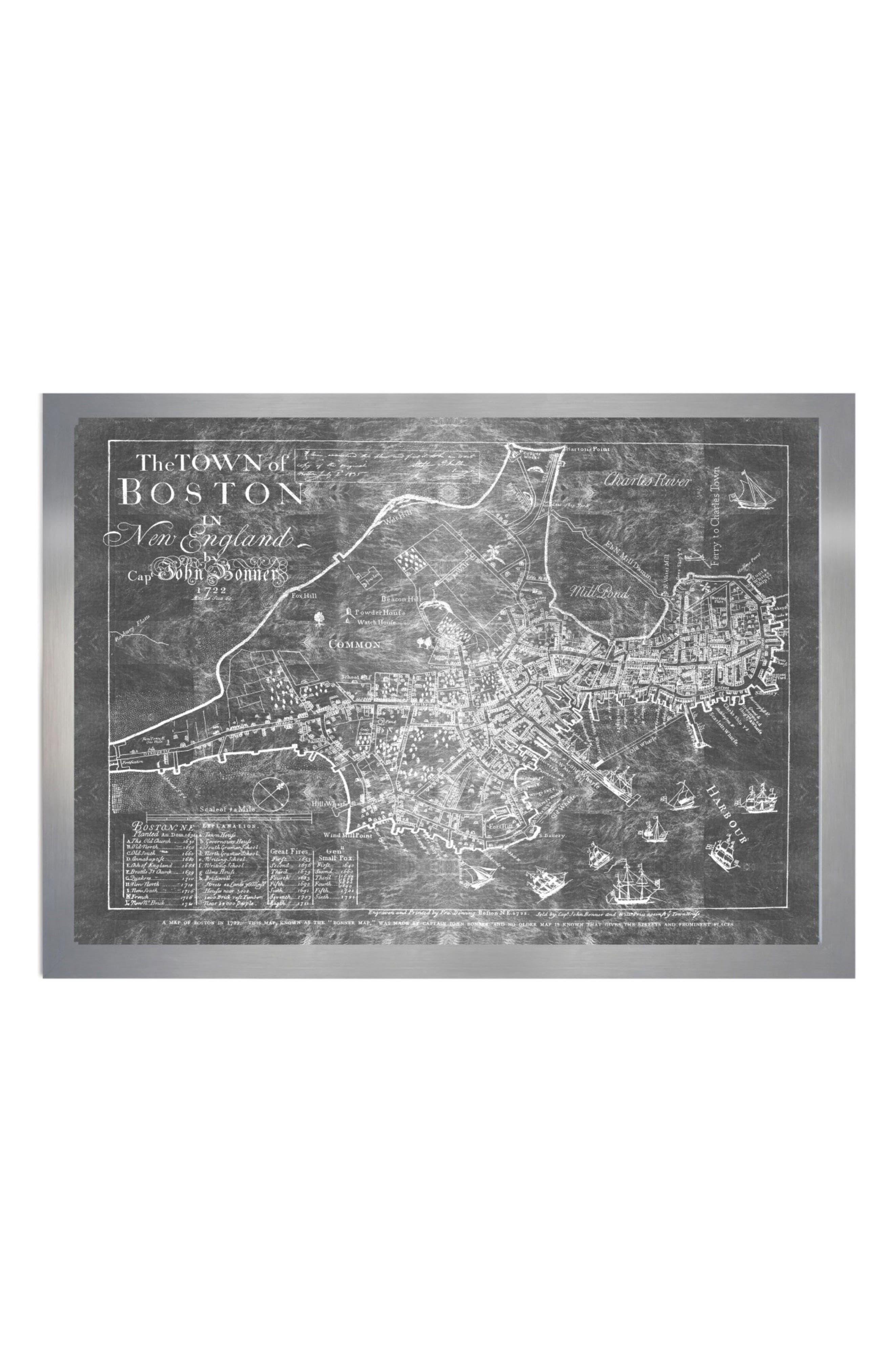 Black And White Framed Art Art Prints Black And White Print Wall - Chicago map artwork