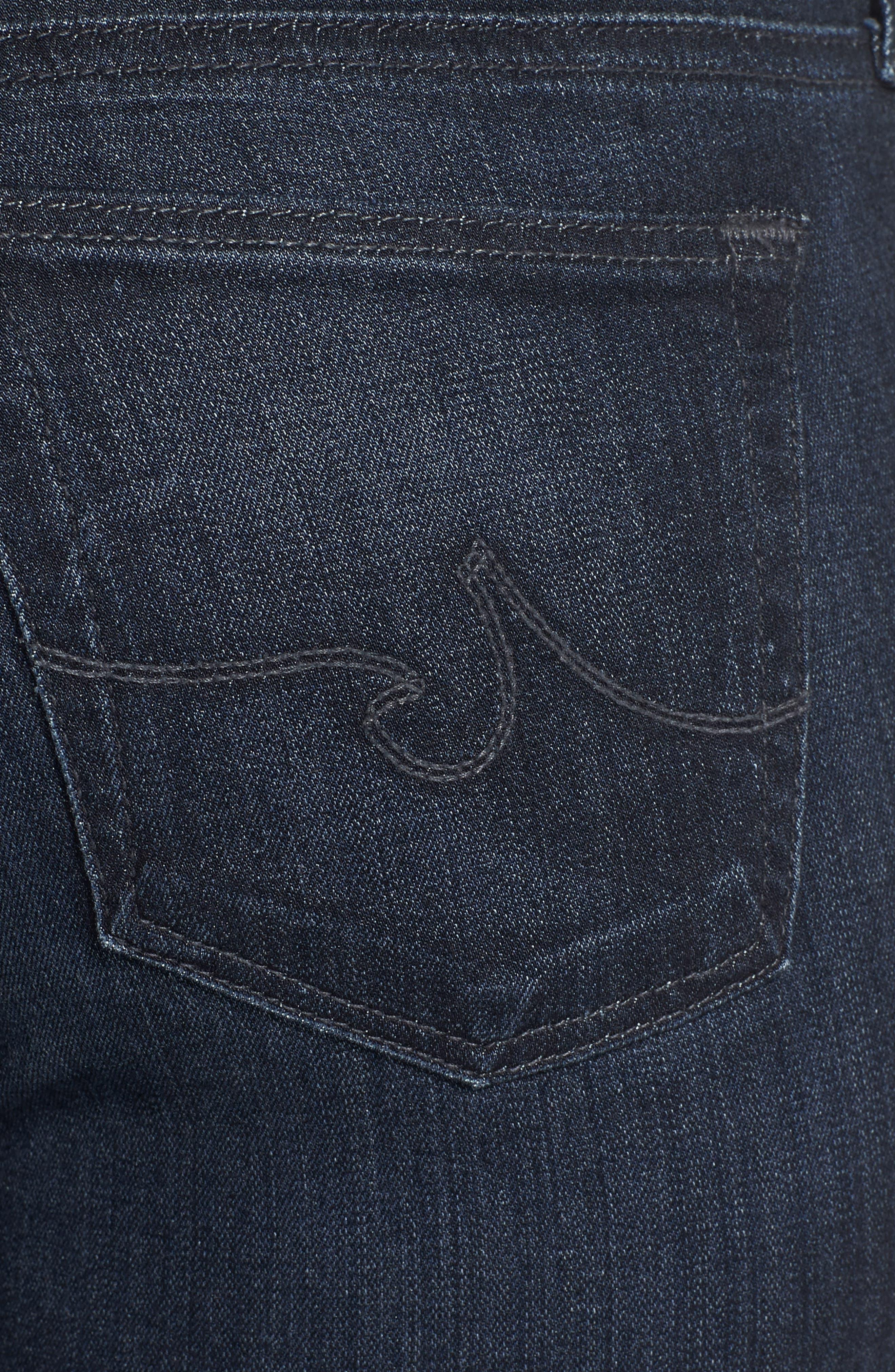 Alternate Image 4  - AG Ankle Super Skinny Jeans (Coal Blue)