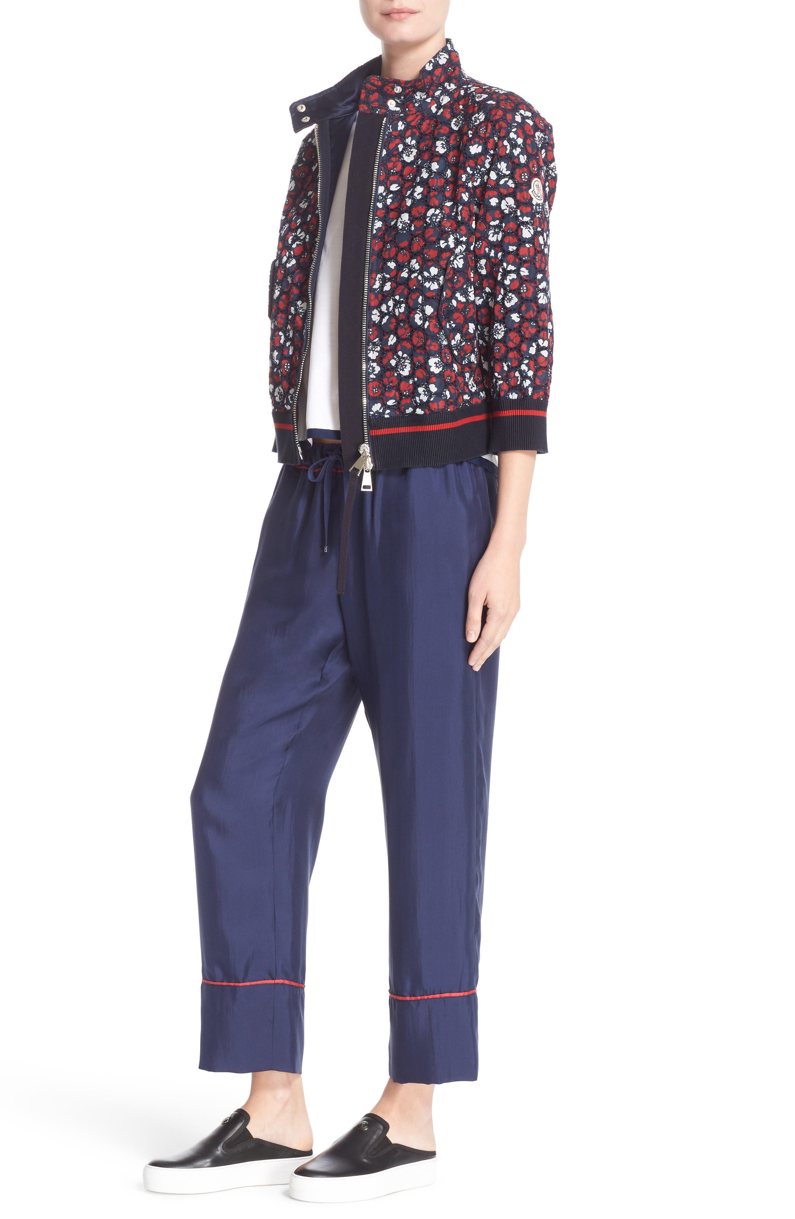 Alternate Image 7  - Moncler Fiadone Floral Eyelet Jacket