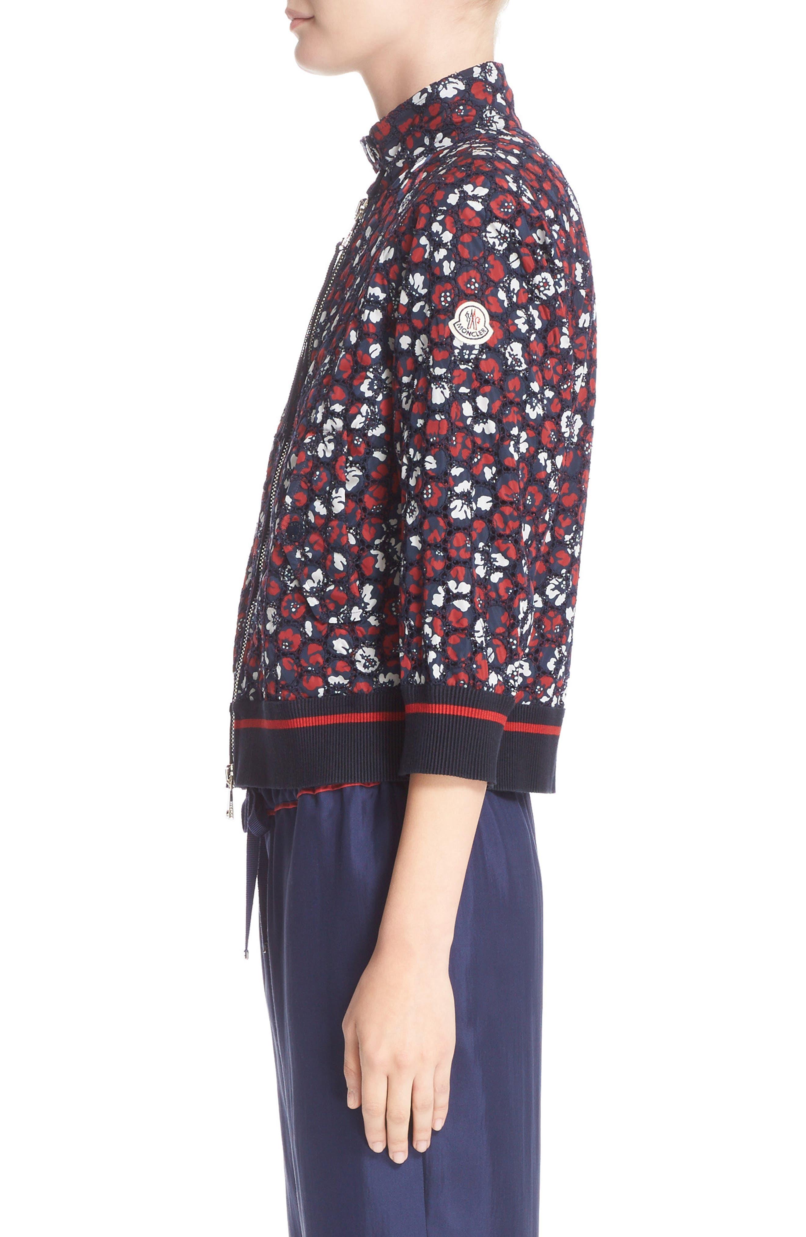 Alternate Image 5  - Moncler Fiadone Floral Eyelet Jacket