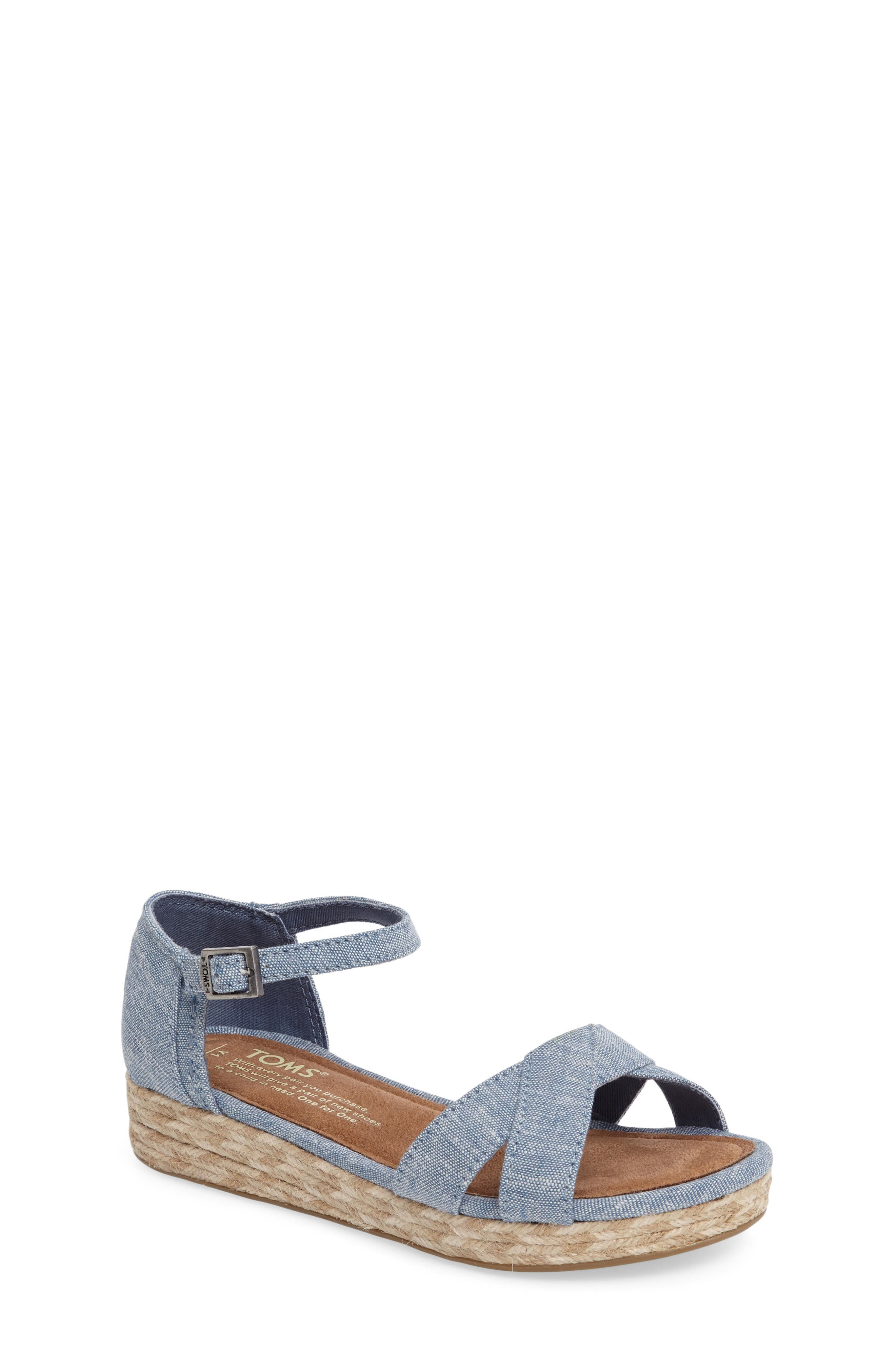 TOMS Harper Wedge Sandal (Little Kid & Big Kid)