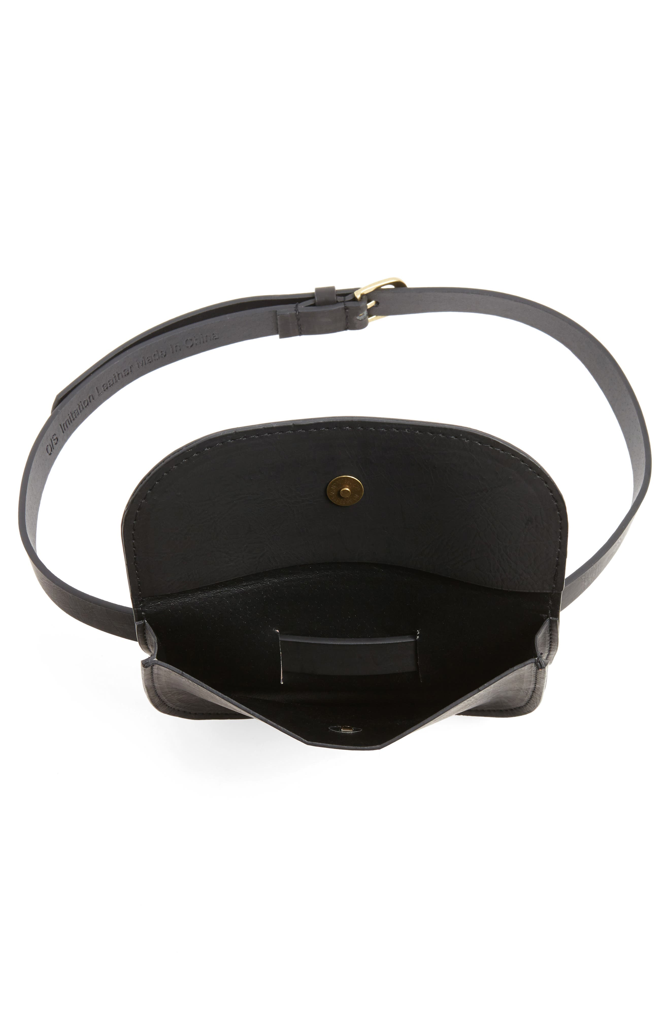 Alternate Image 4  - Accessory Collective Faux Leather Belt Bag