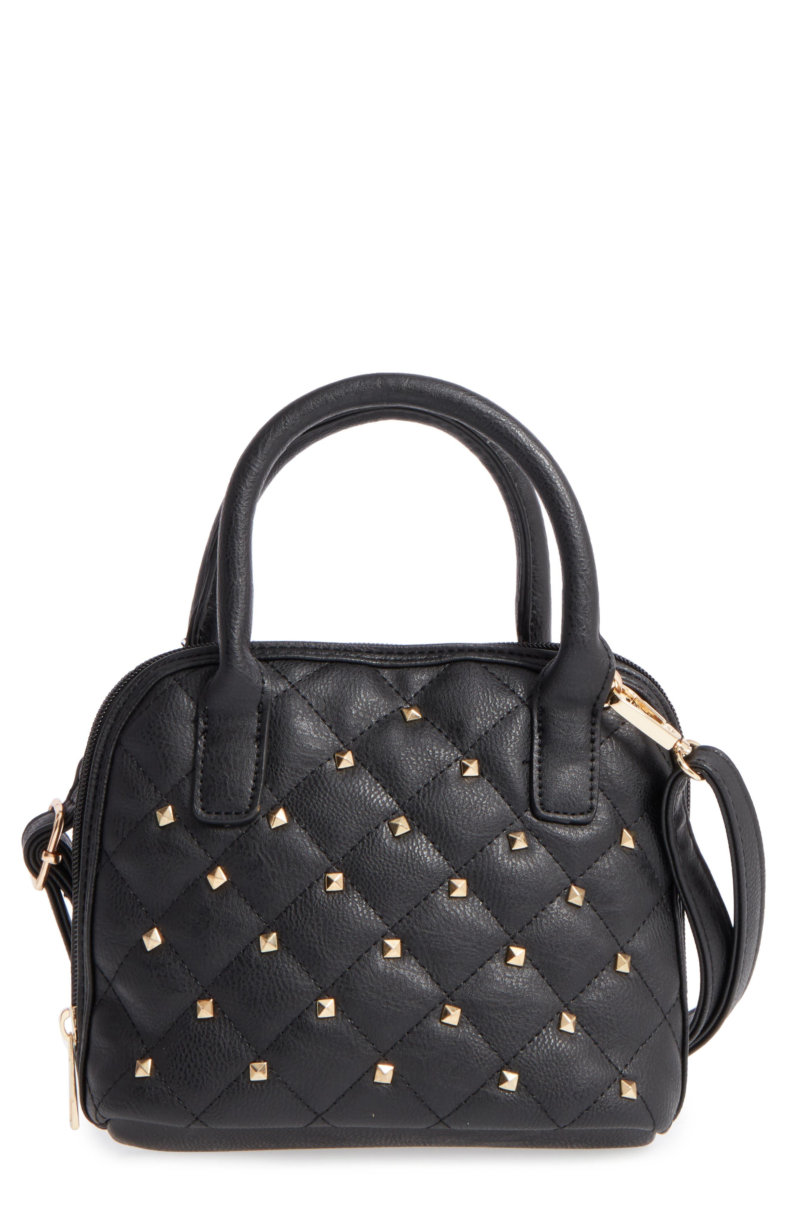 OMG Studded Faux Leather Satchel (Girls)
