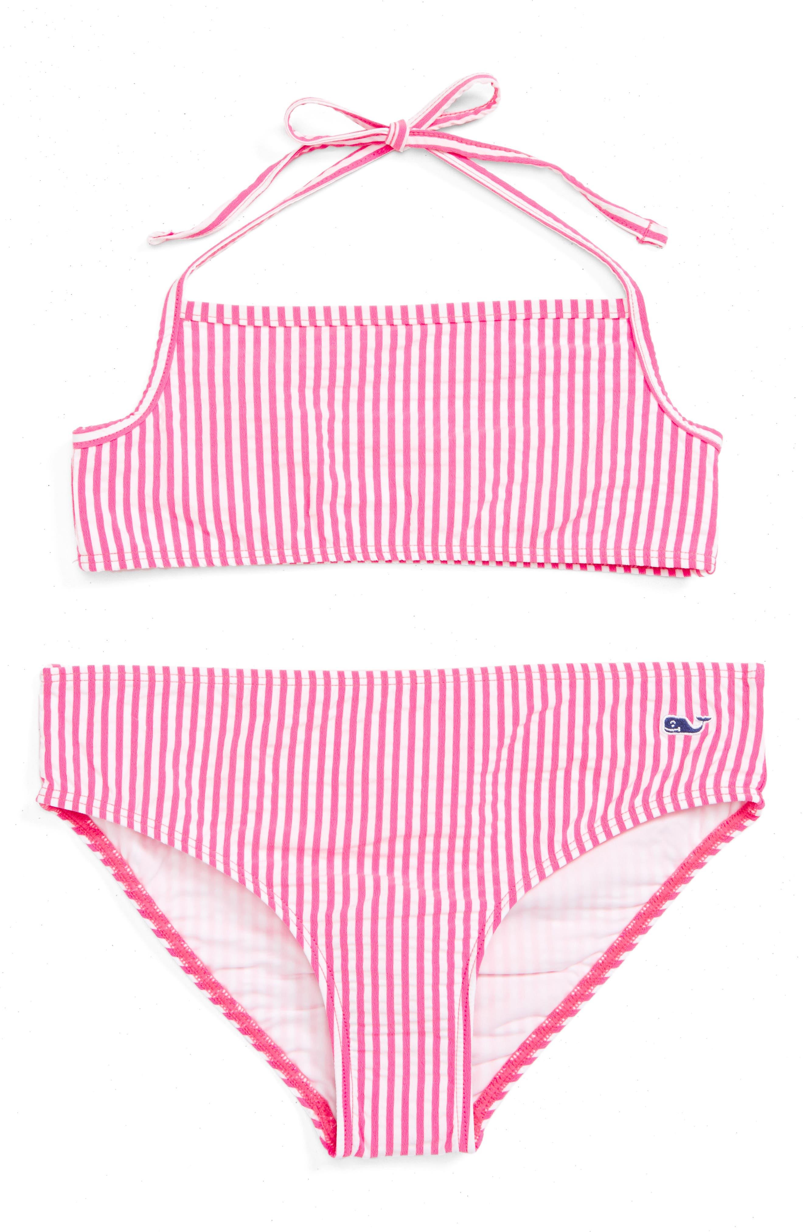 Vineyard Vines Seersucker Two-Piece Swimsuit (Little Girls & Big Girls)