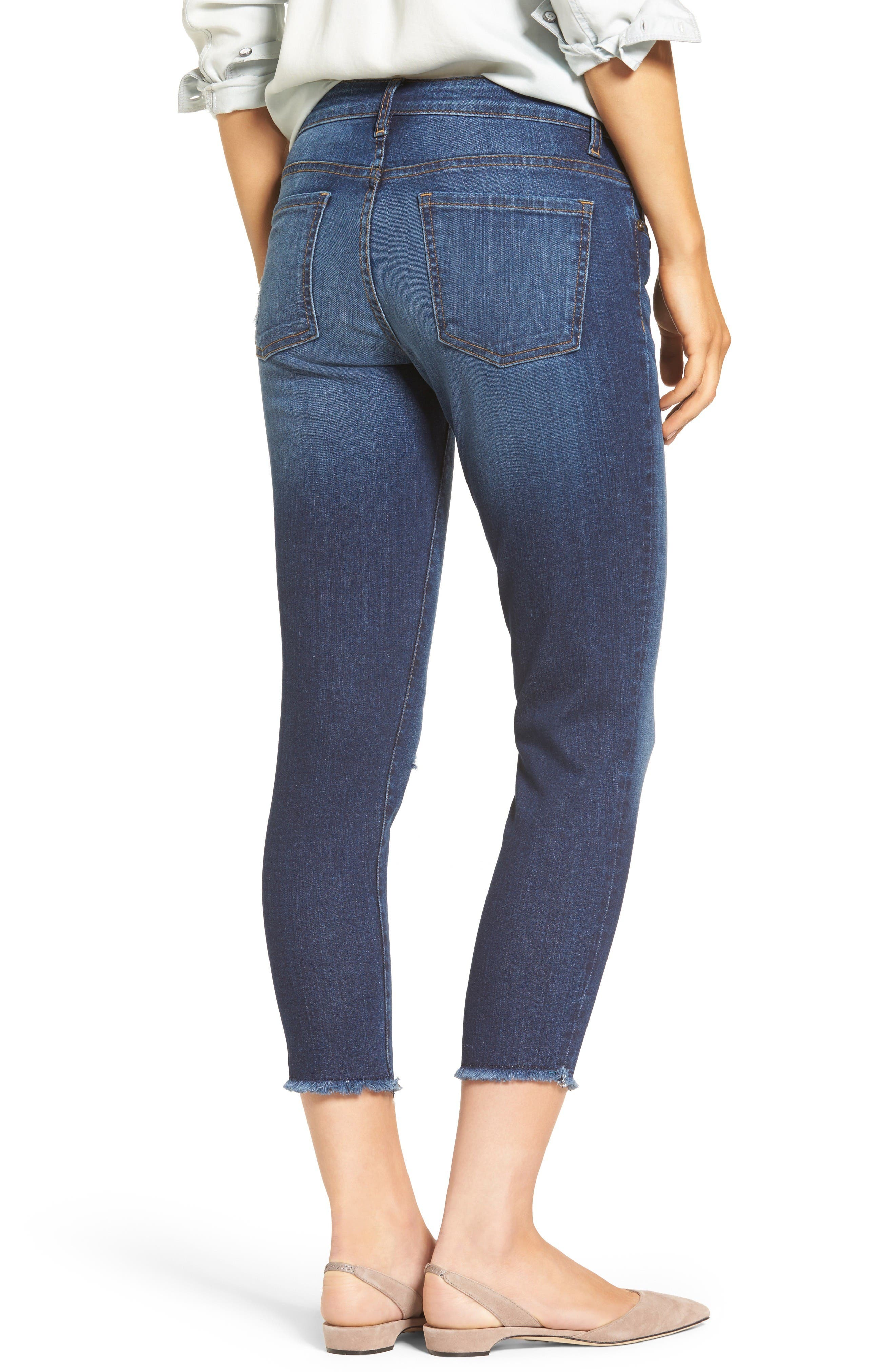 Alternate Image 2  - KUT from the Kloth Donna Ripped Crop Jeans (Peaceable) (Regular & Petite)