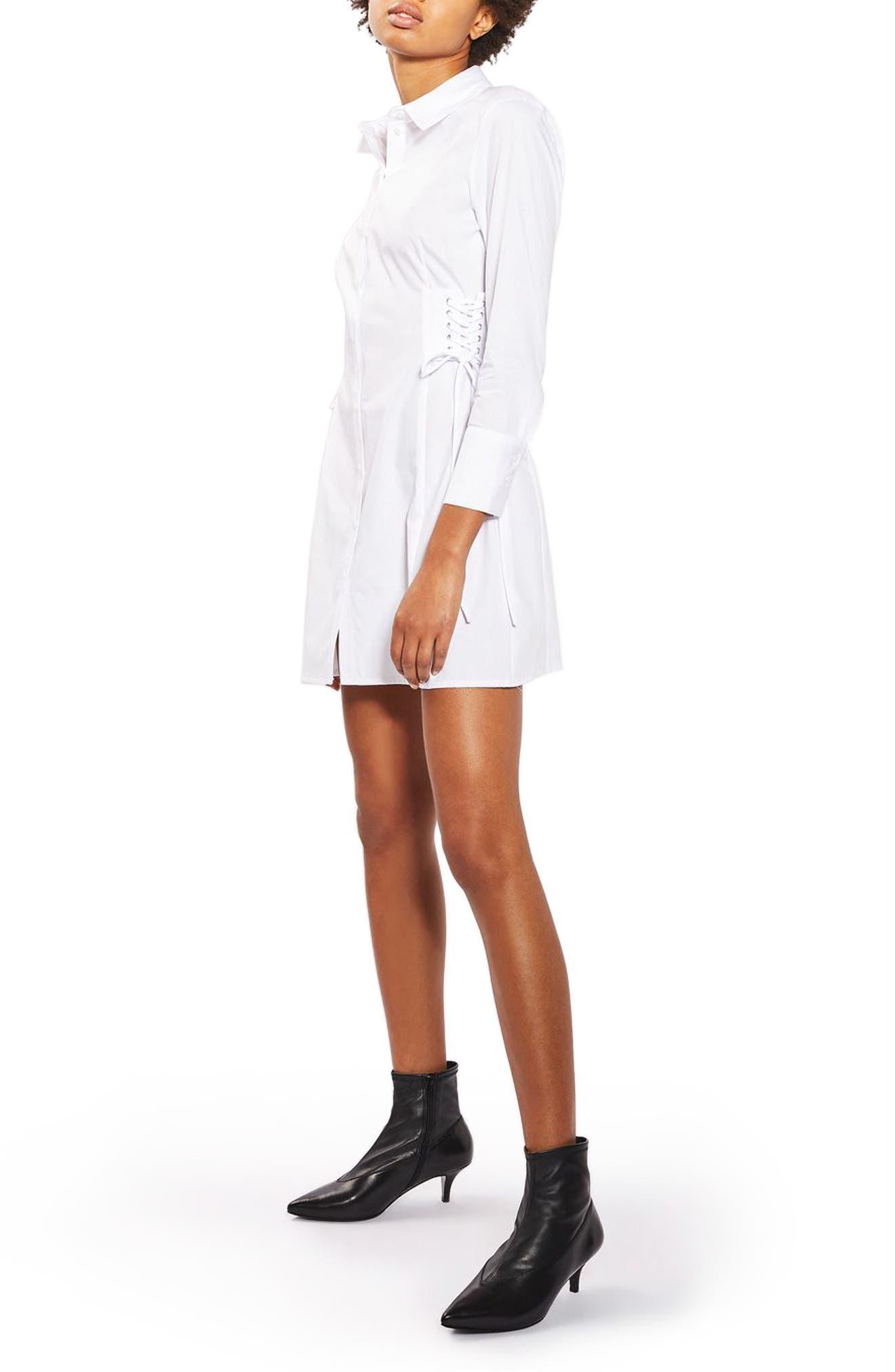 Topshop Corset Side Shirtdress