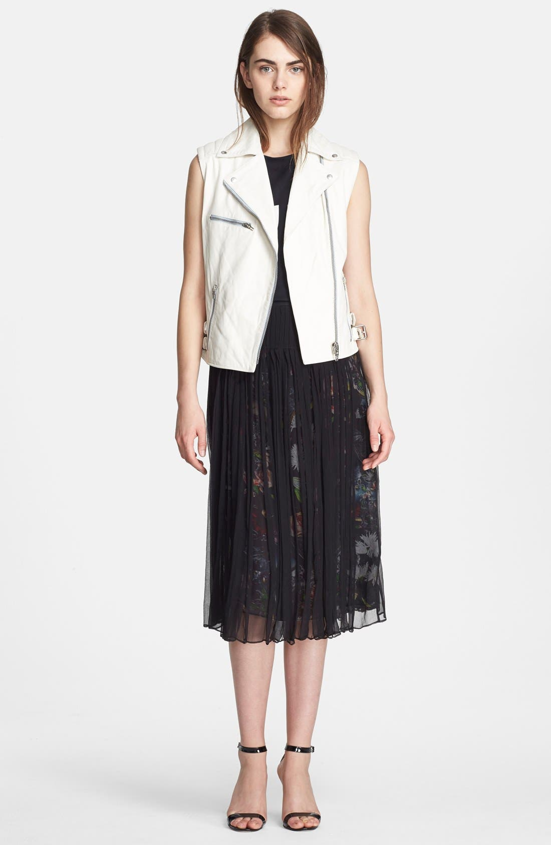 Main Image - McQ by Alexander McQueen Leather Moto Gilet Vest