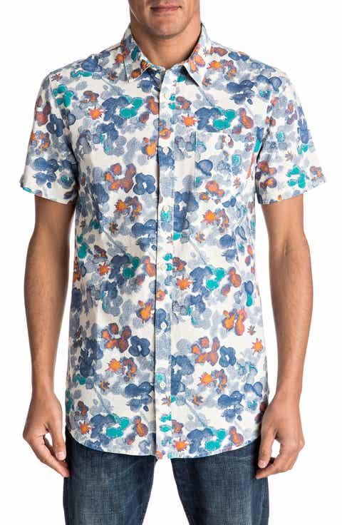 Quiksilver Only Flowers Elongated Print Woven Shirt