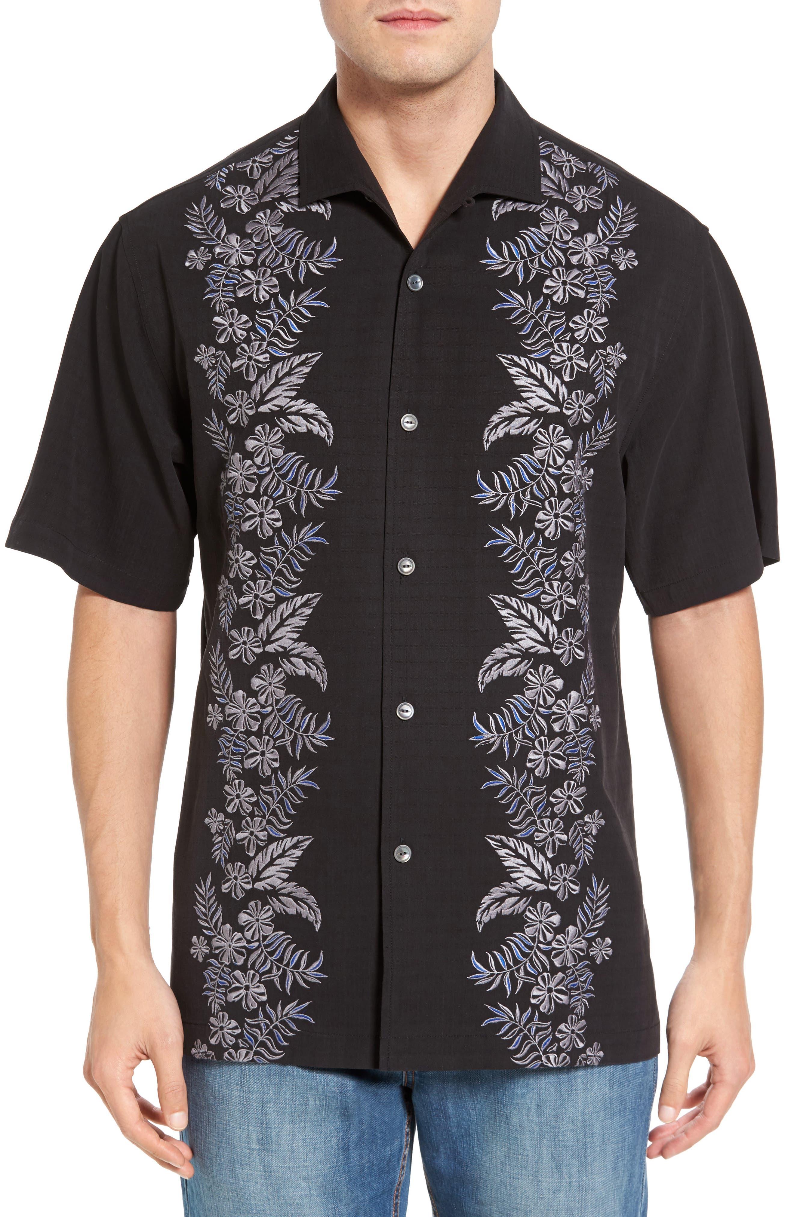 Tommy Bahama Put a Leaf on It Silk Camp Shirt