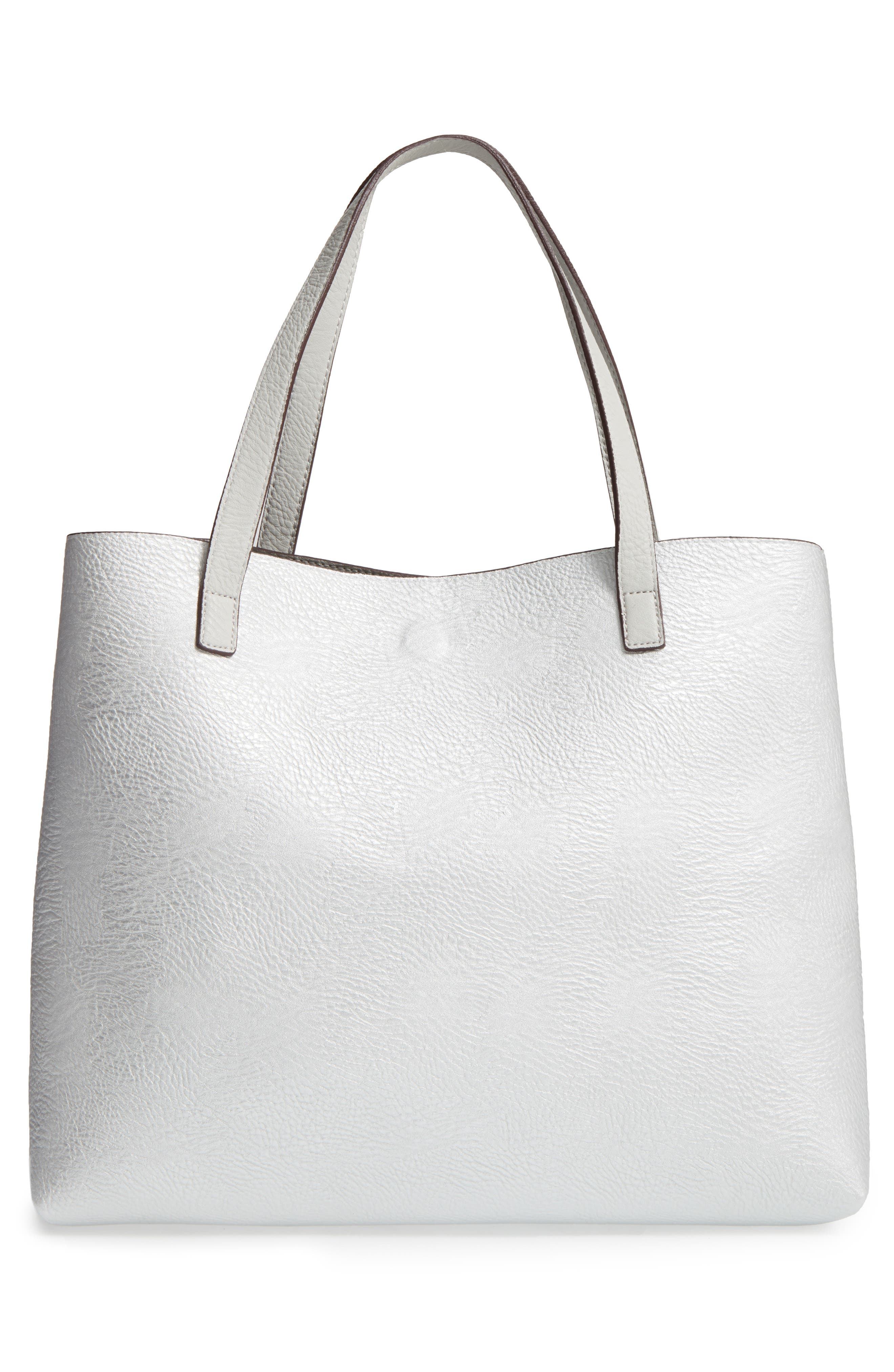Alternate Image 7  - Street Level Reversible Faux Leather Tote & Wristlet