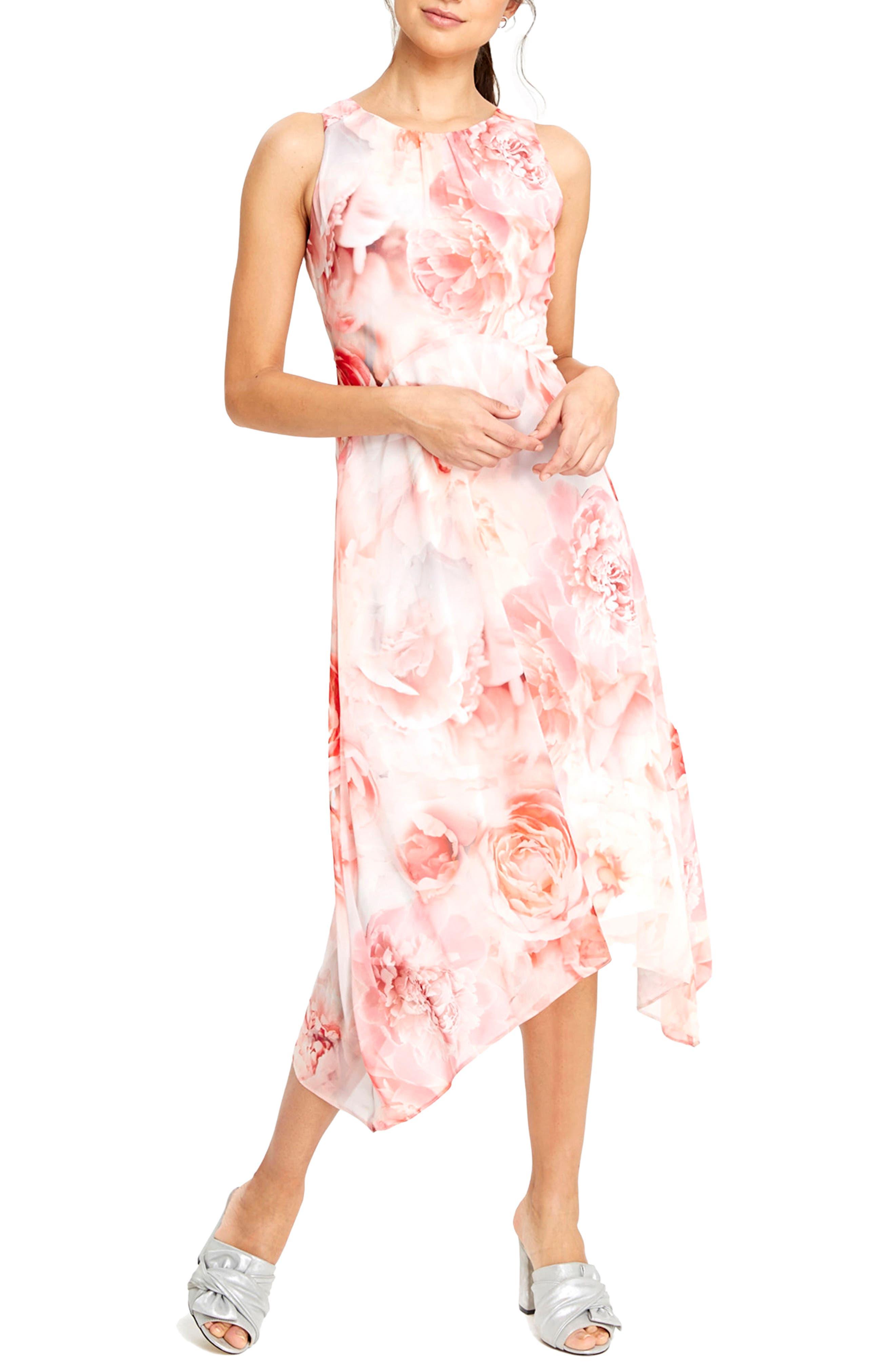 Main Image - Wallis Pastel Rose Handkerchief Hem Dress