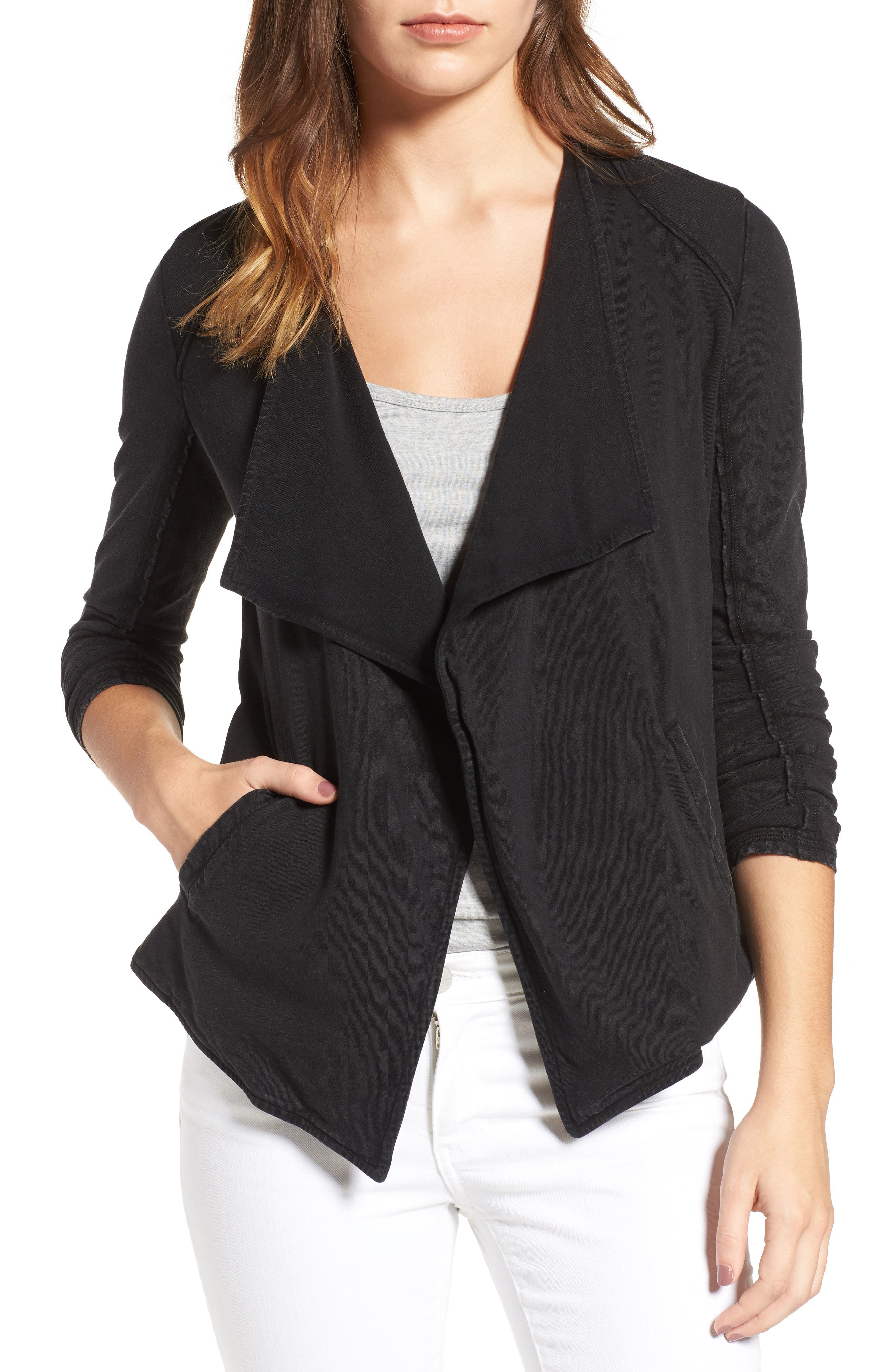 Caslon® Drapey Knit Jacket (Regular & Petite)