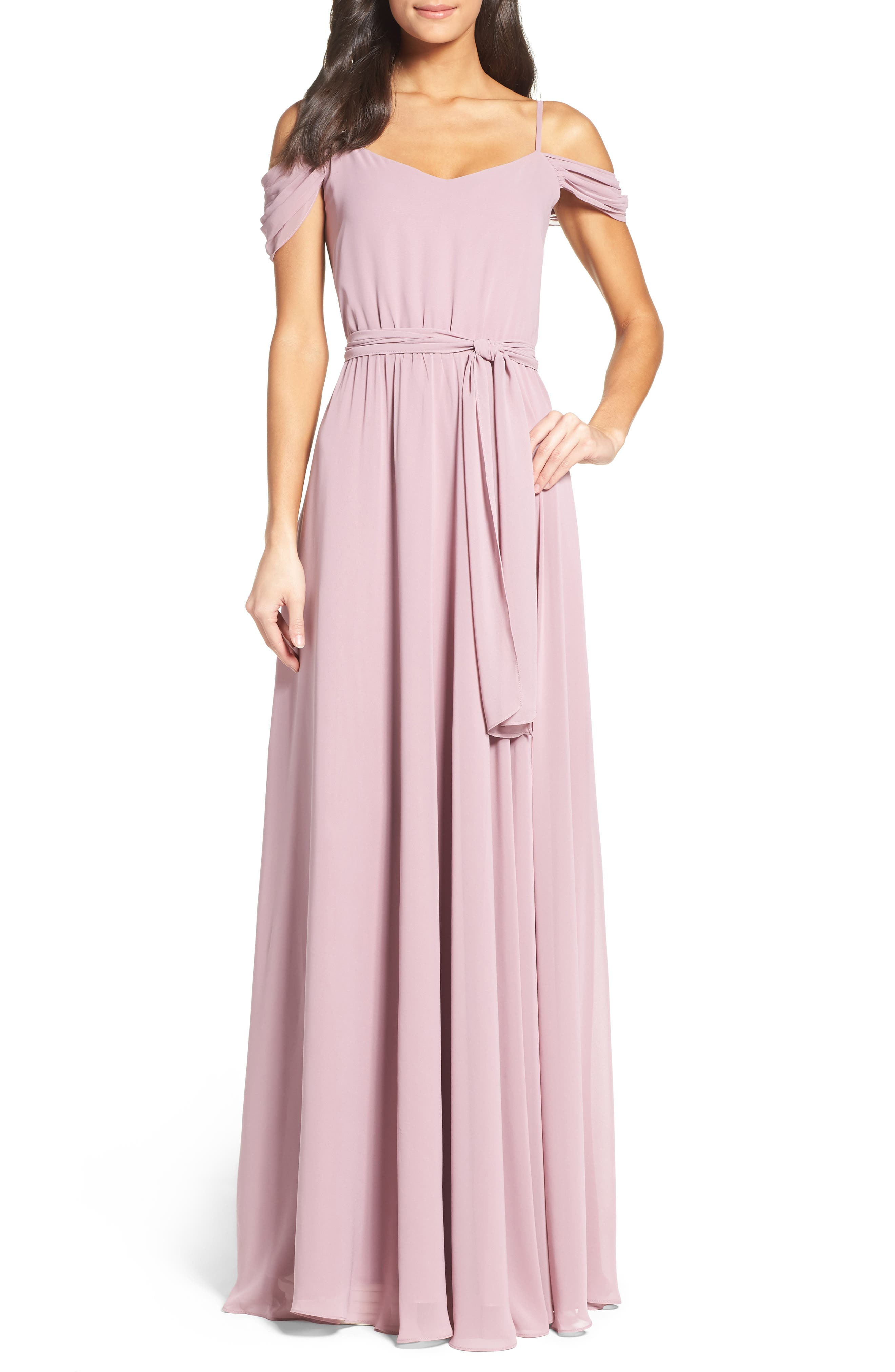Ceremony by Joanna August Off the Shoulder Gown