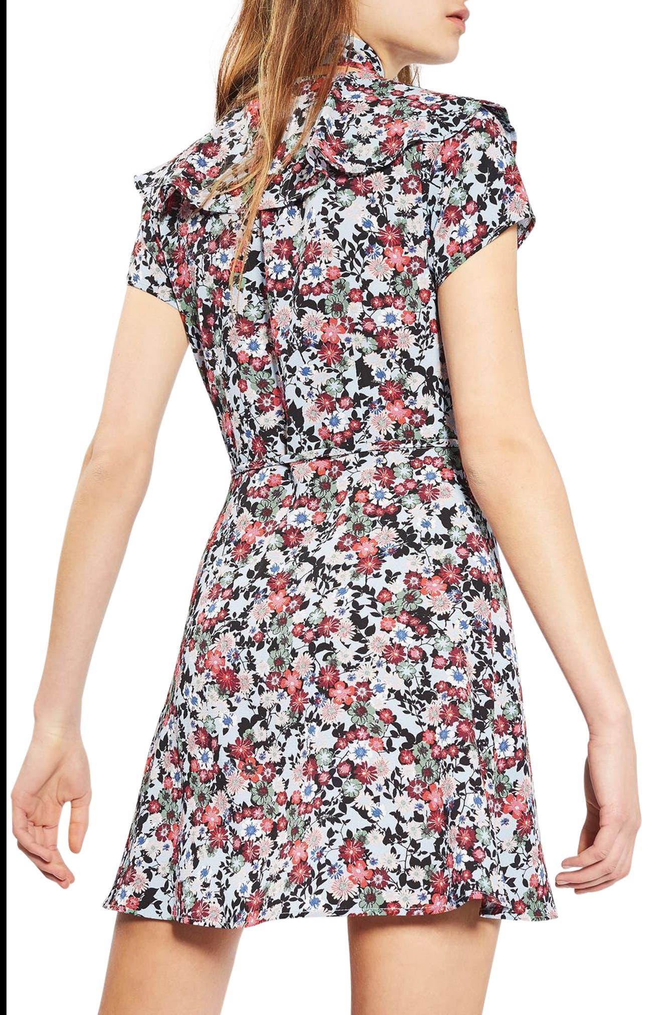Alternate Image 3  - Topshop Sky Floral Wrap Dress