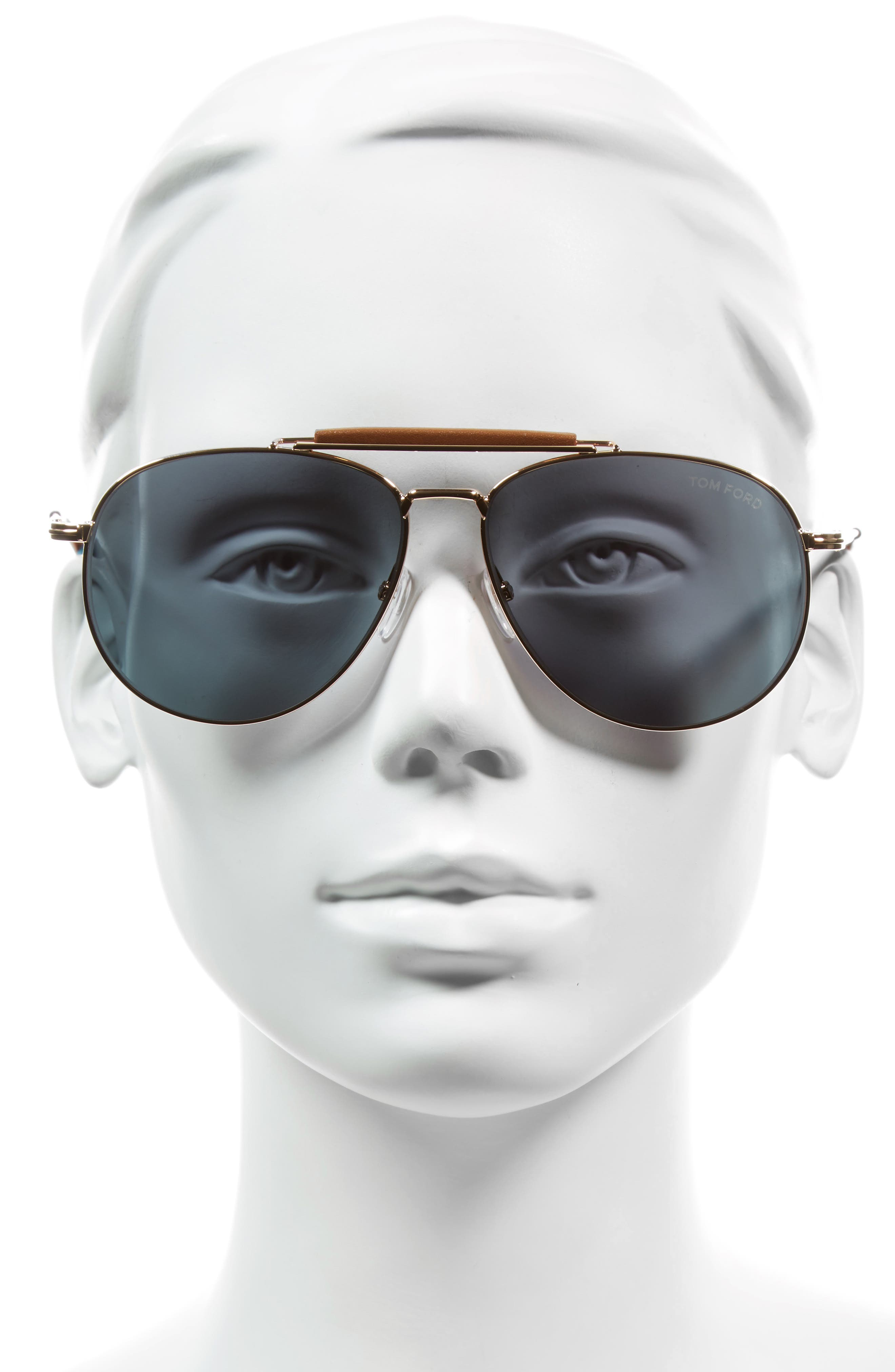 Alternate Image 2  - Tom Ford Sean 60mm Aviator Sunglasses